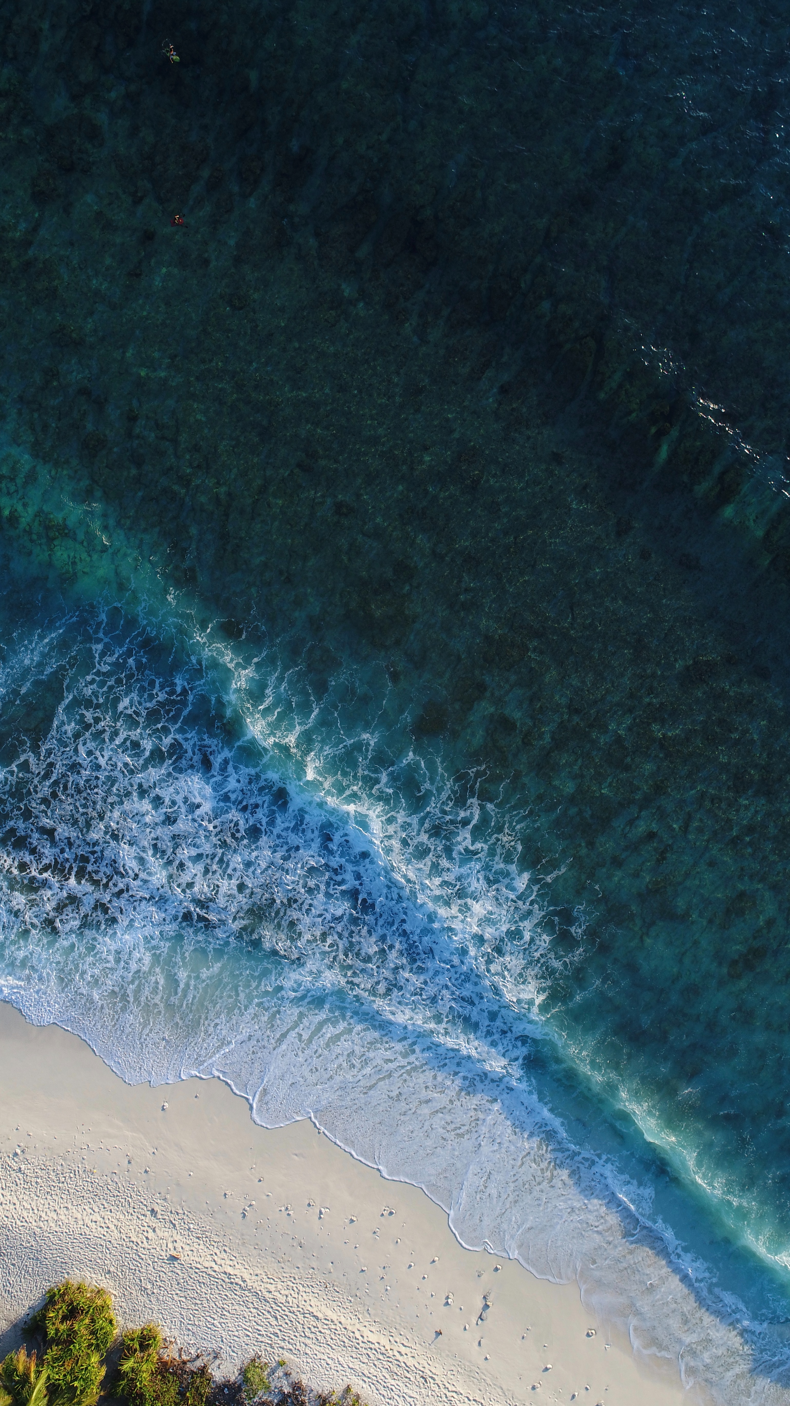 158060 Screensavers and Wallpapers Ocean for phone. Download Ocean, Nature, Water, View From Above, Surf, Maldives pictures for free