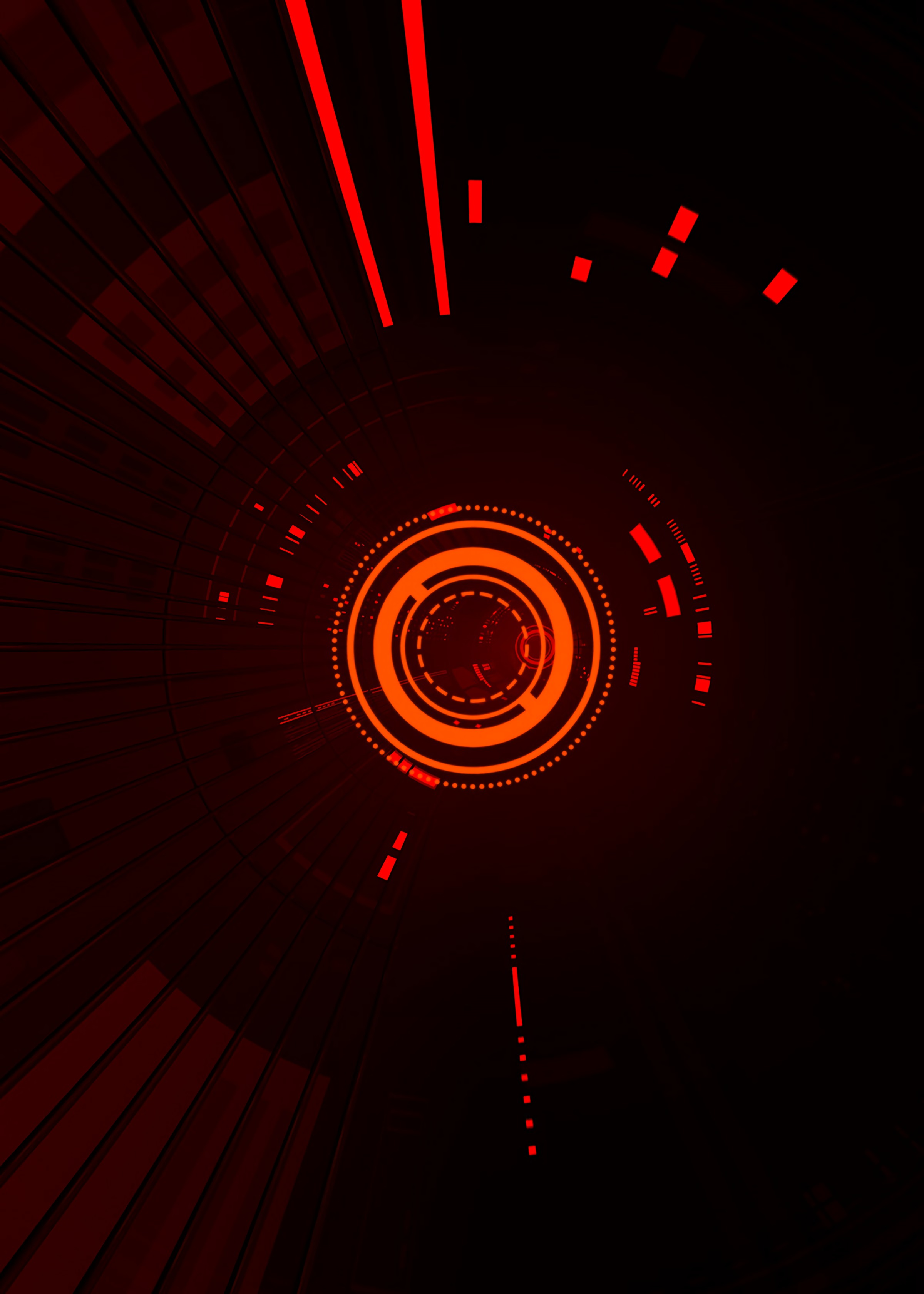 71619 download wallpaper Dark, Sci-Fi, Hologram, Circles, Lines, Points, Point, Scheme, Glow screensavers and pictures for free