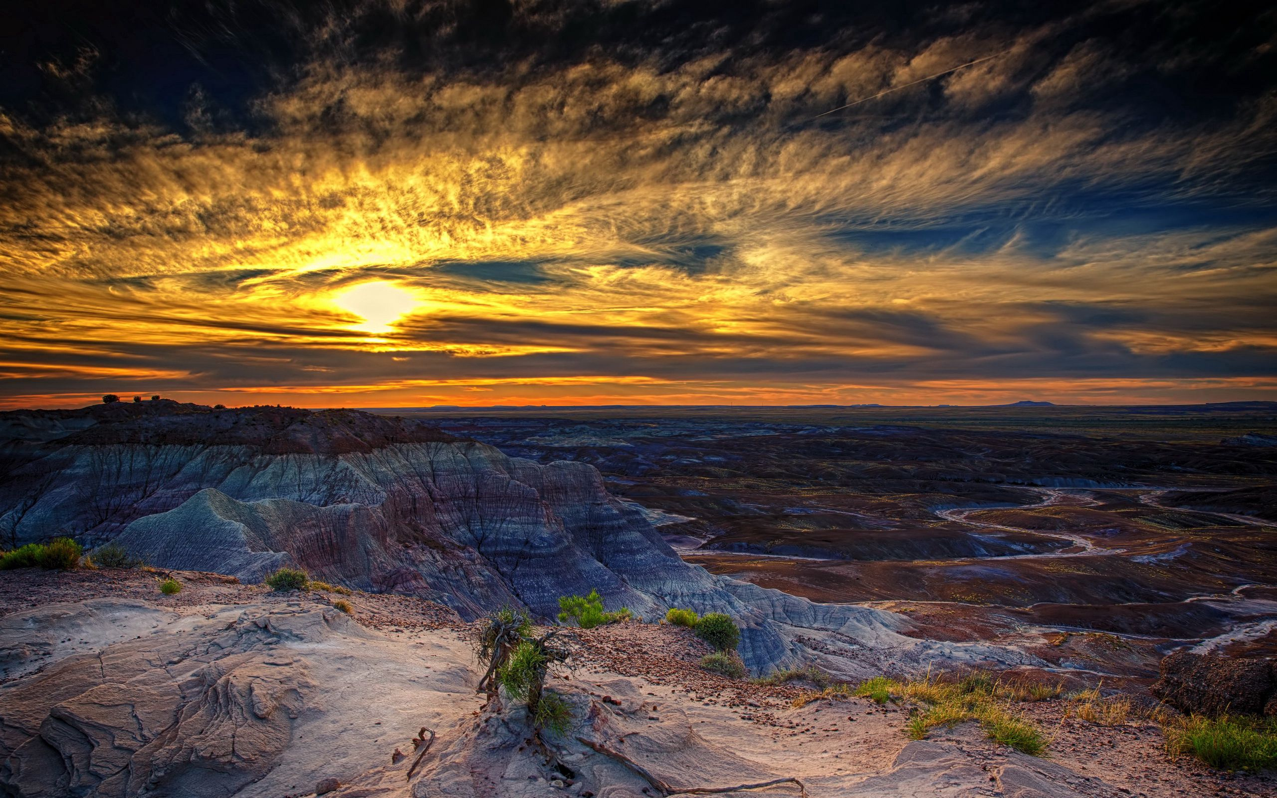114208 Screensavers and Wallpapers Hdr for phone. Download Nature, Sunset, Hdr, Arizona, Petrified Forest pictures for free