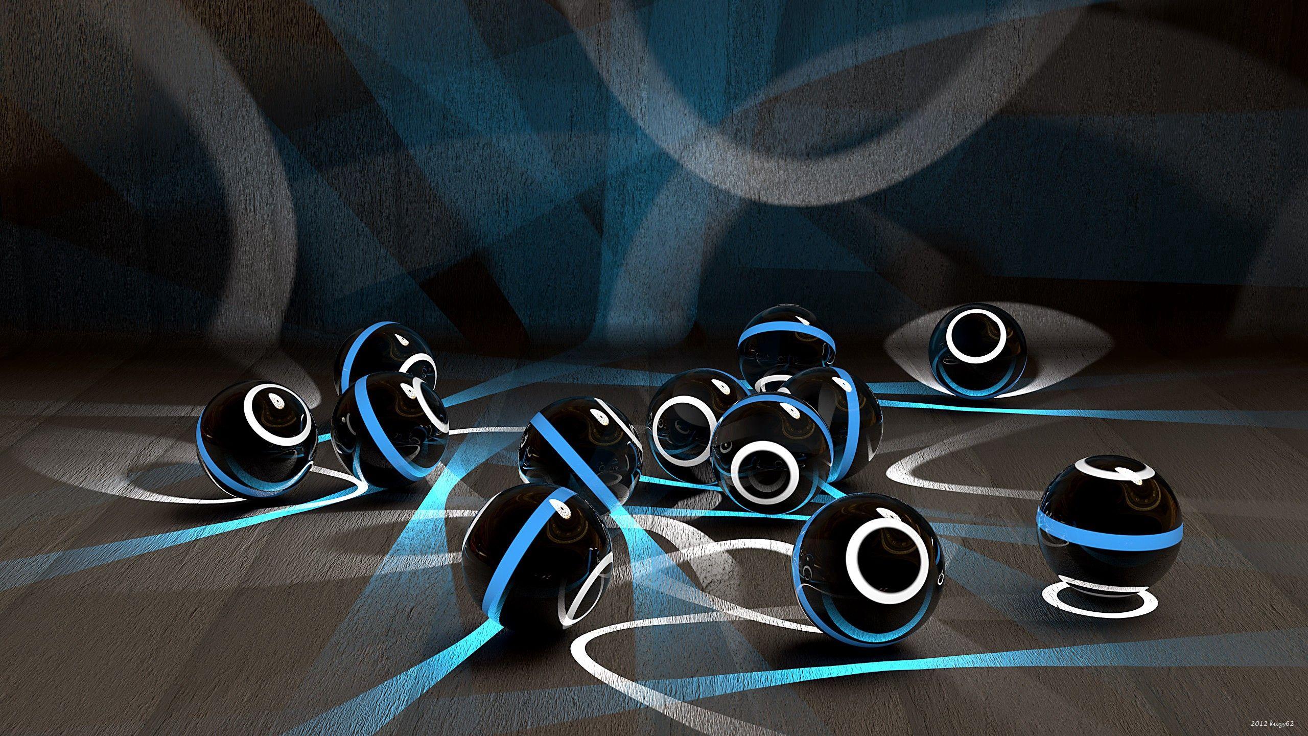 112772 Hintergrundbild herunterladen Kreise, Hell, 3D, Oberfläche, Streifen, Bälle - Bildschirmschoner und Bilder kostenlos