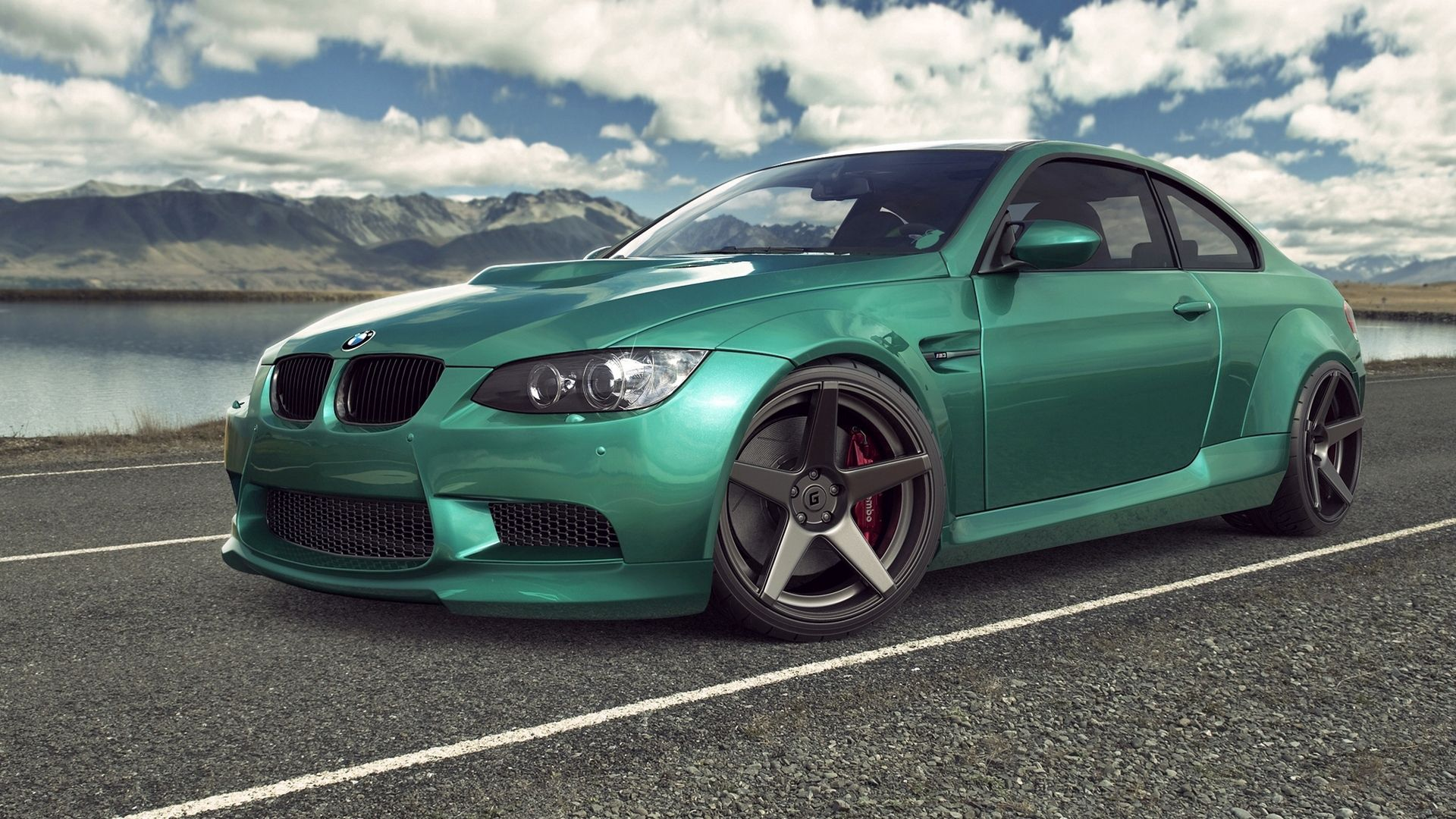 93360 download wallpaper Auto, Sky, Bmw, Clouds, Cars, Road, Car, Machine, M3, E92 screensavers and pictures for free