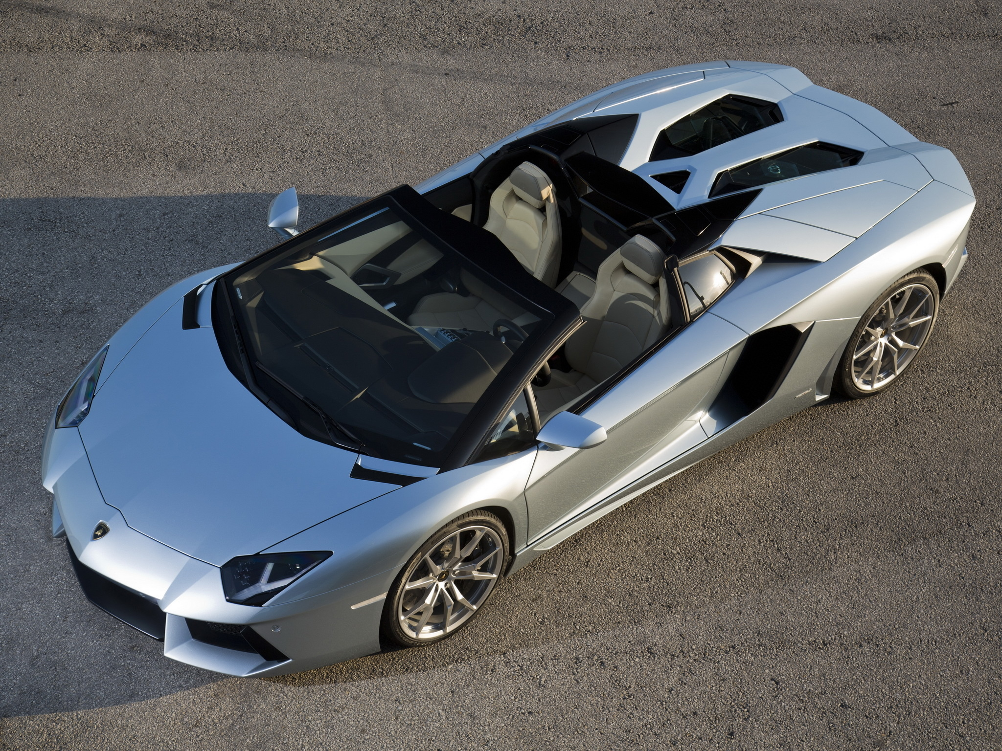 144680 descarga Gris fondos de pantalla para tu teléfono gratis, Coches, Lamborghini Aventador, Lp700-4, Vista Desde Arriba Gris imágenes y protectores de pantalla para tu teléfono