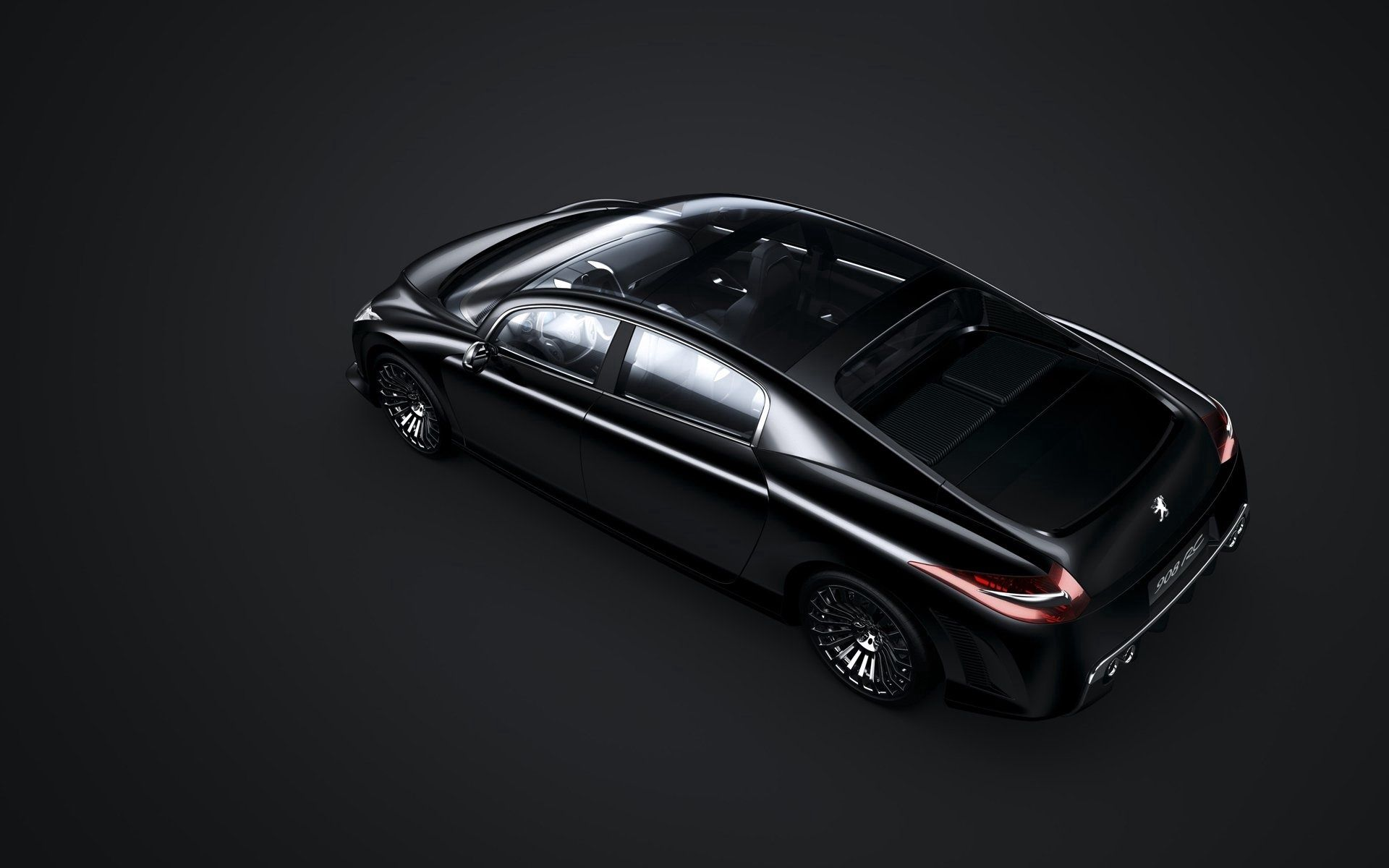 156610 скачать обои Пежо (Peugeot), Тачки (Cars), Вид Сверху, Черный, 908 Rc - заставки и картинки бесплатно
