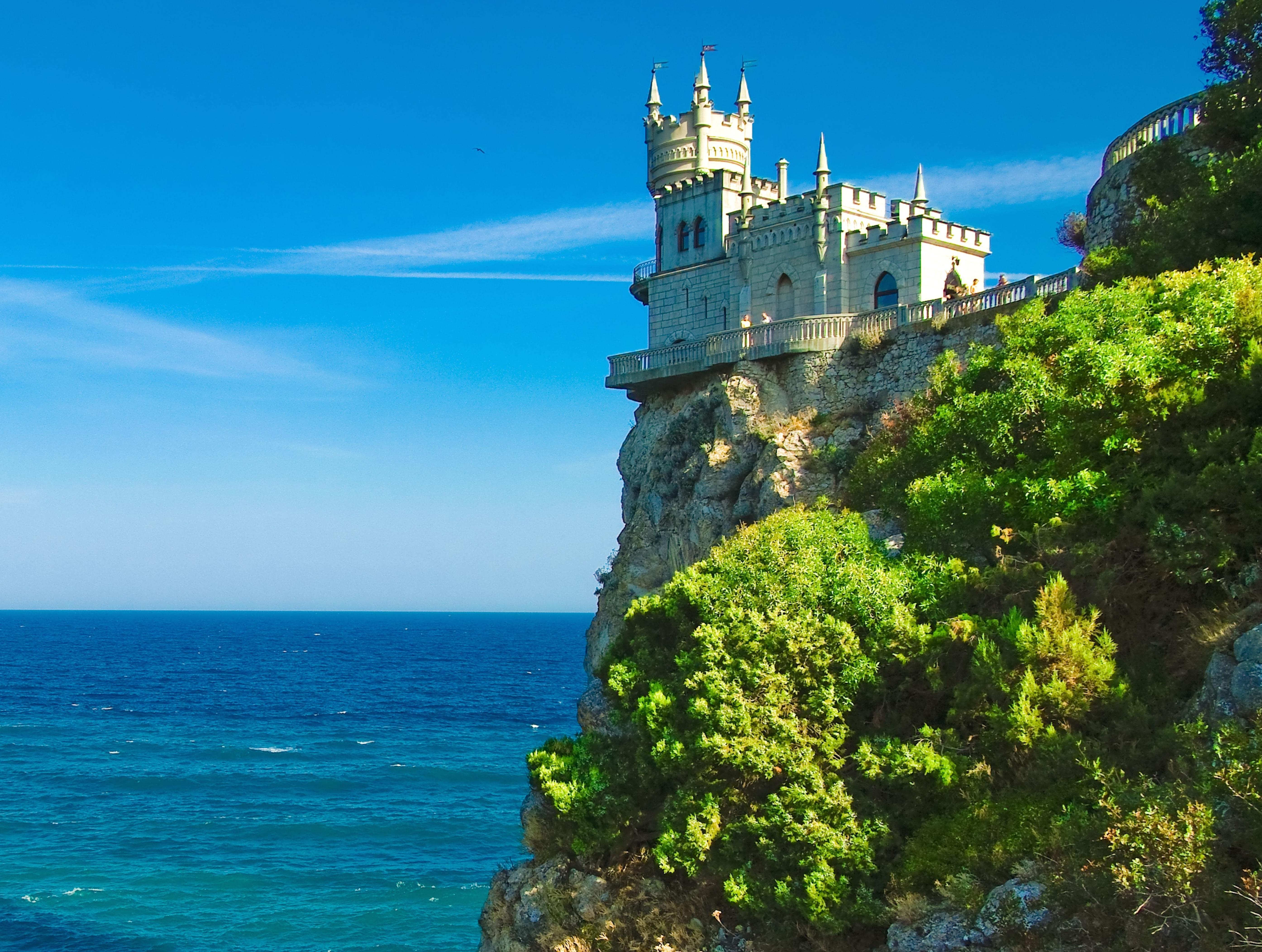 78781 скачать обои Природа, Море, Крым, Ласточкино Гнездо - заставки и картинки бесплатно
