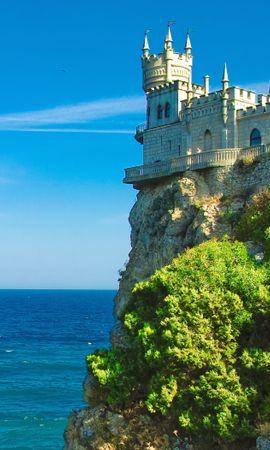 78781 Заставки и Обои Море на телефон. Скачать Природа, Крым, Ласточкино Гнездо, Море картинки бесплатно