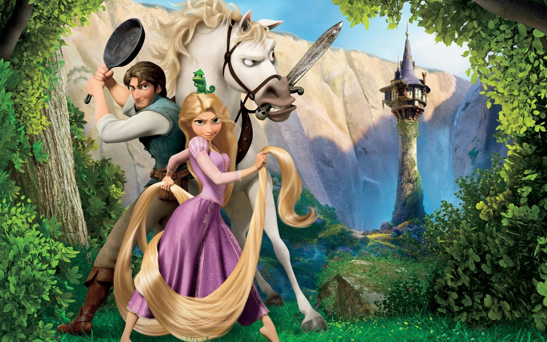41302 download wallpaper Cartoon, Rapunzel screensavers and pictures for free
