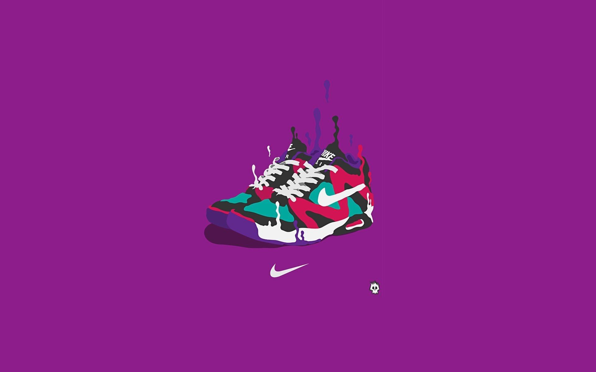 43654 скачать обои Найк (Nike), Рисунки, Спорт - заставки и картинки бесплатно
