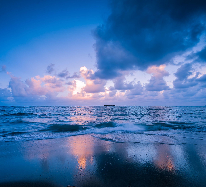 78032 скачать обои Природа, Море, Прибой, Горизонт, Закат, Облака, Филиппины - заставки и картинки бесплатно