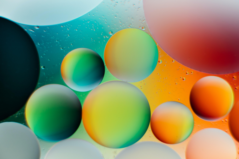 107573 скачать обои Абстракция, Круги, Градиент, Круглый, Пузыри - заставки и картинки бесплатно