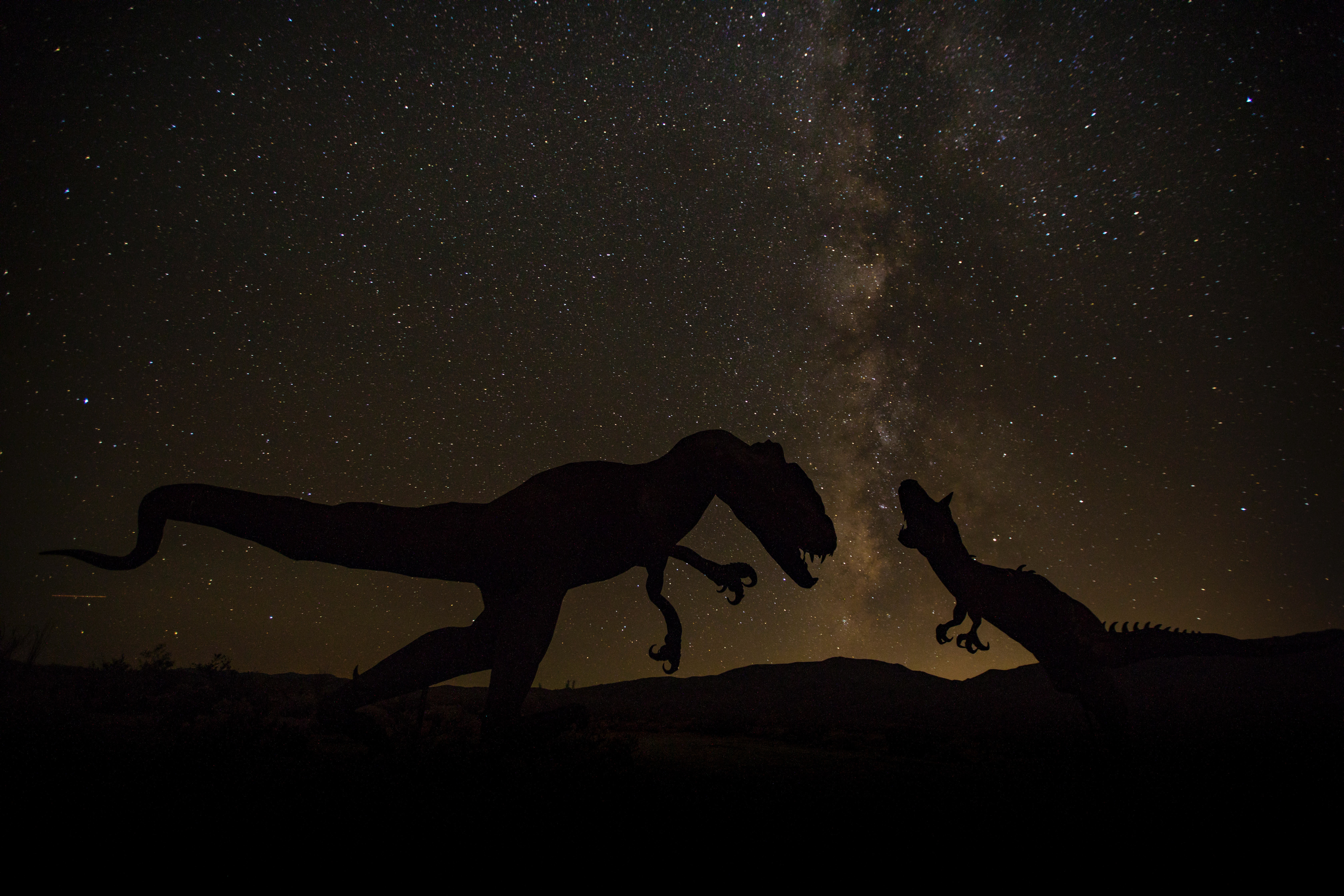 100921 download wallpaper Dinosaurs, Universe, Dark, Starry Sky screensavers and pictures for free