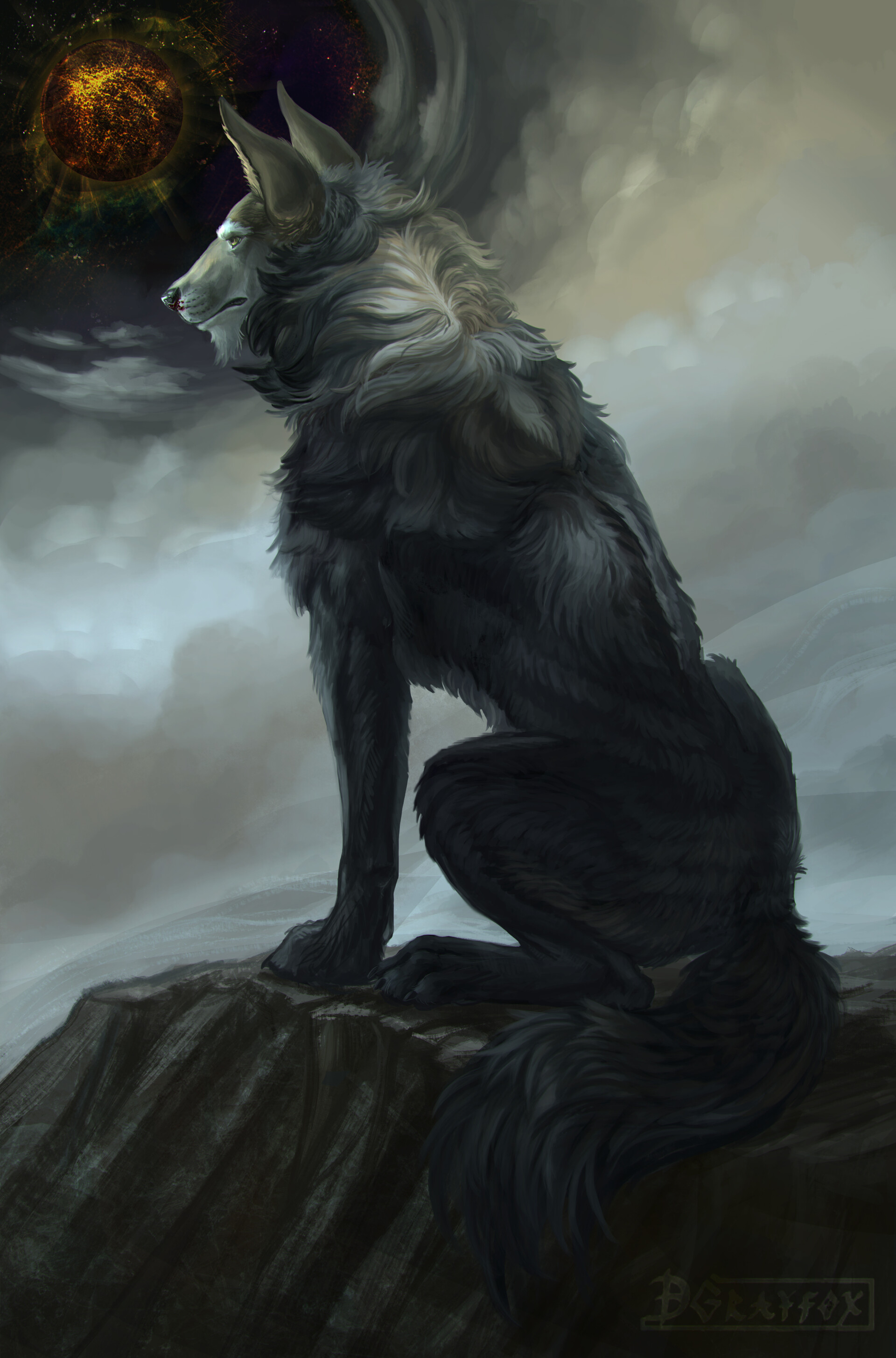 76296 Screensavers and Wallpapers Fiction for phone. Download Art, Predator, Wolf, Beast, Fiction, That's Incredible pictures for free