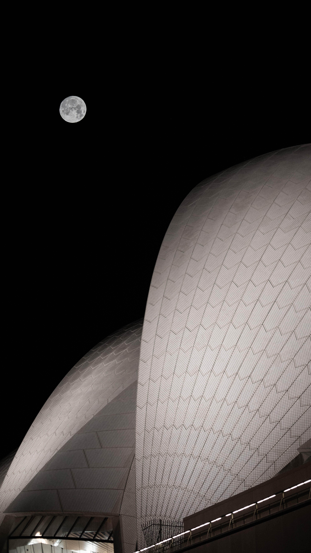 149190 免費下載壁紙 黑暗的, 黑暗, 月球, 建造, 建筑, 夜, 满月 屏保和圖片