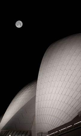 149190 télécharger le fond d'écran Sombre, Lune, Imeuble, Bâtiment, Nuit, Pleine Lune, L'architecture - économiseurs d'écran et images gratuitement