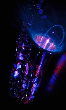 79234 Screensavers and Wallpapers Music for phone. Download Music, Saxophone, Light Painting, Painting, Musical Instrument, Abstract pictures for free