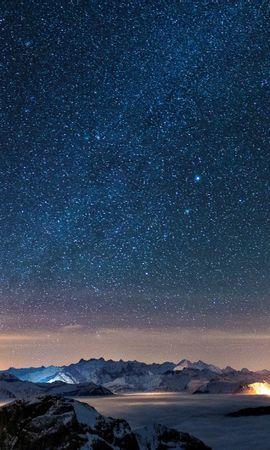 34446 скачать обои Пейзаж, Горы, Звезды, Ночь - заставки и картинки бесплатно