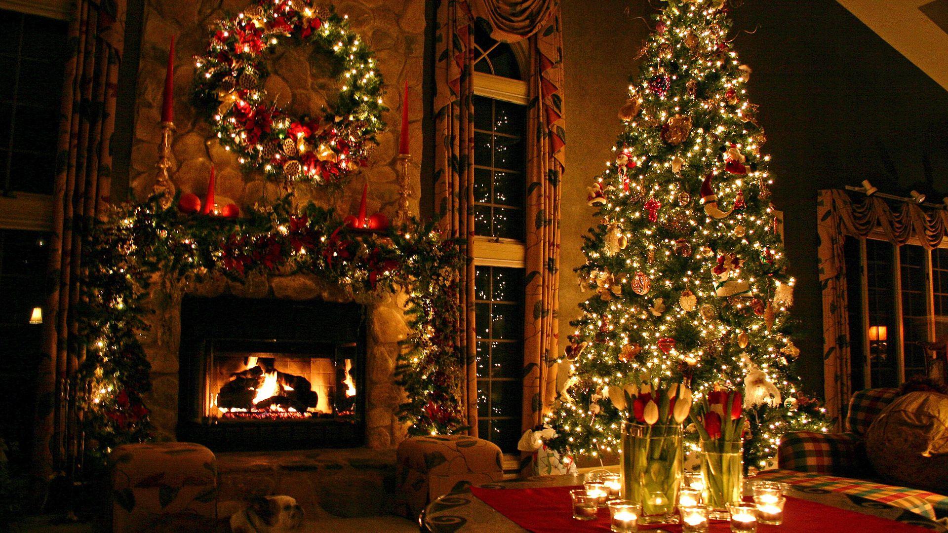 60306 скачать обои Праздники, Новый Год, Праздник, Дом, Елка - заставки и картинки бесплатно