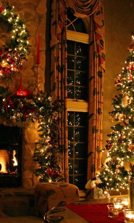 60306 Screensavers and Wallpapers Holidays for phone. Download Holidays, Christmas Tree, House, New Year, Holiday pictures for free
