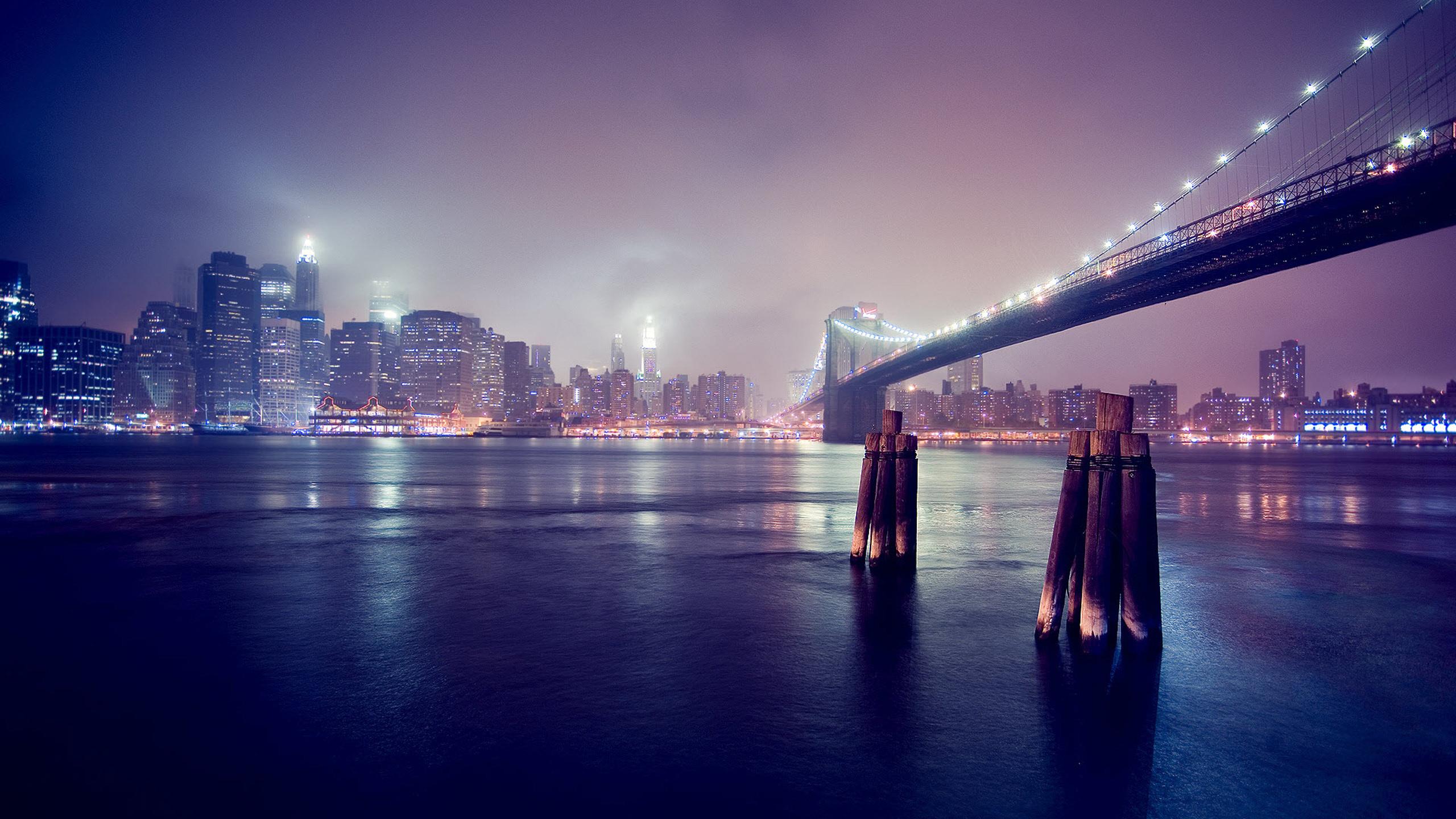 16939 скачать обои Пейзаж, Города, Мосты, Ночь - заставки и картинки бесплатно