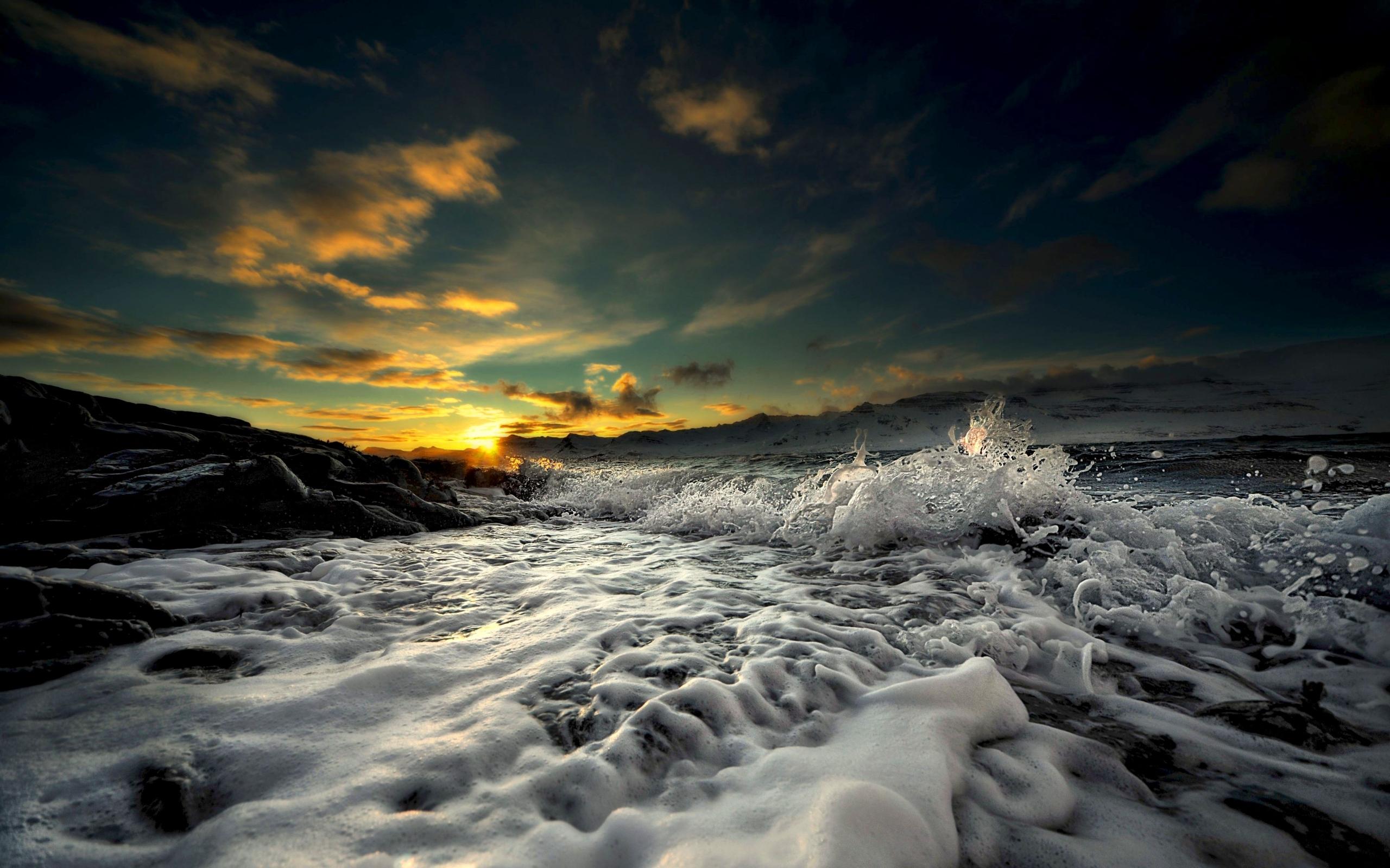 23465 скачать обои Пейзаж, Закат, Море, Волны - заставки и картинки бесплатно