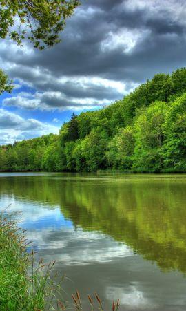 98161 скачать обои Река, Германия, Тропика, Hessen Lich, Hdr, Природа, Пейзаж - заставки и картинки бесплатно