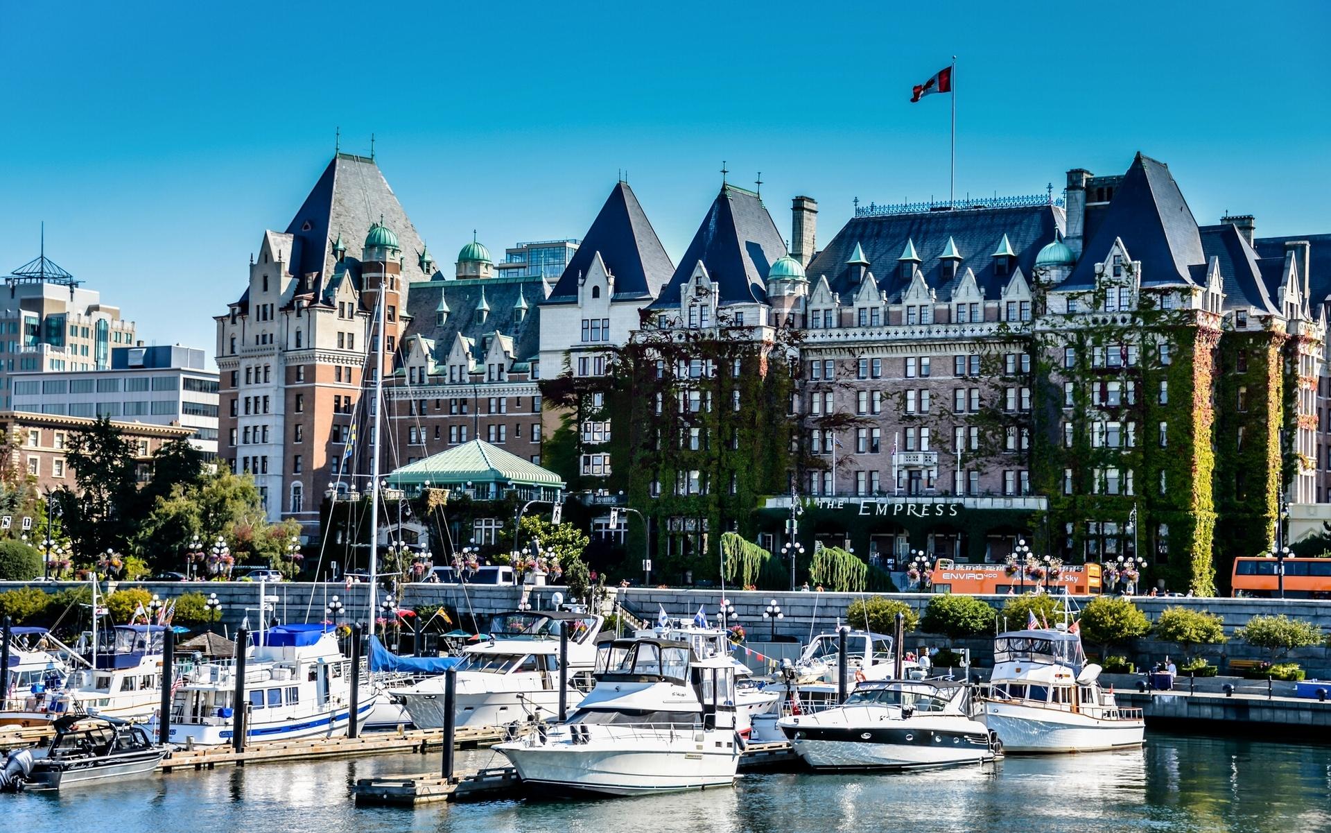 97362 Заставки и Обои Яхты на телефон. Скачать Канада, Виктория, Британская Колумбия, Причал, Города, Яхты картинки бесплатно