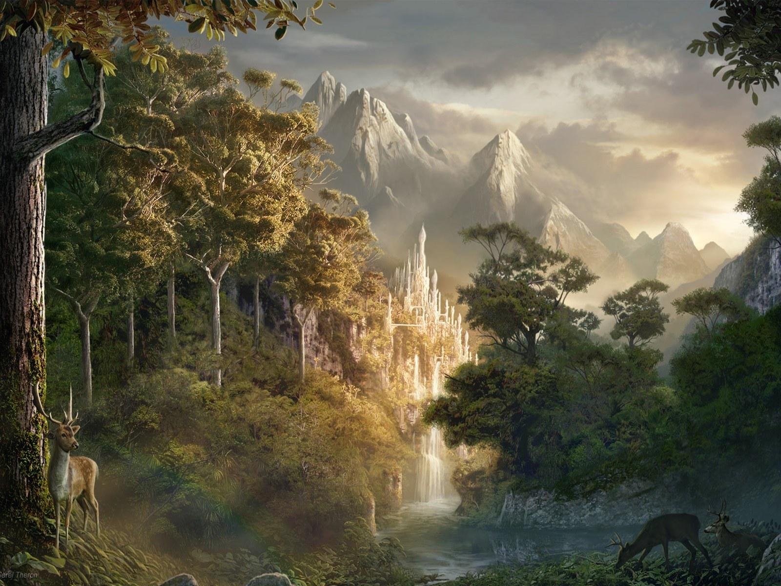 14331 скачать обои Пейзаж, Деревья, Горы - заставки и картинки бесплатно