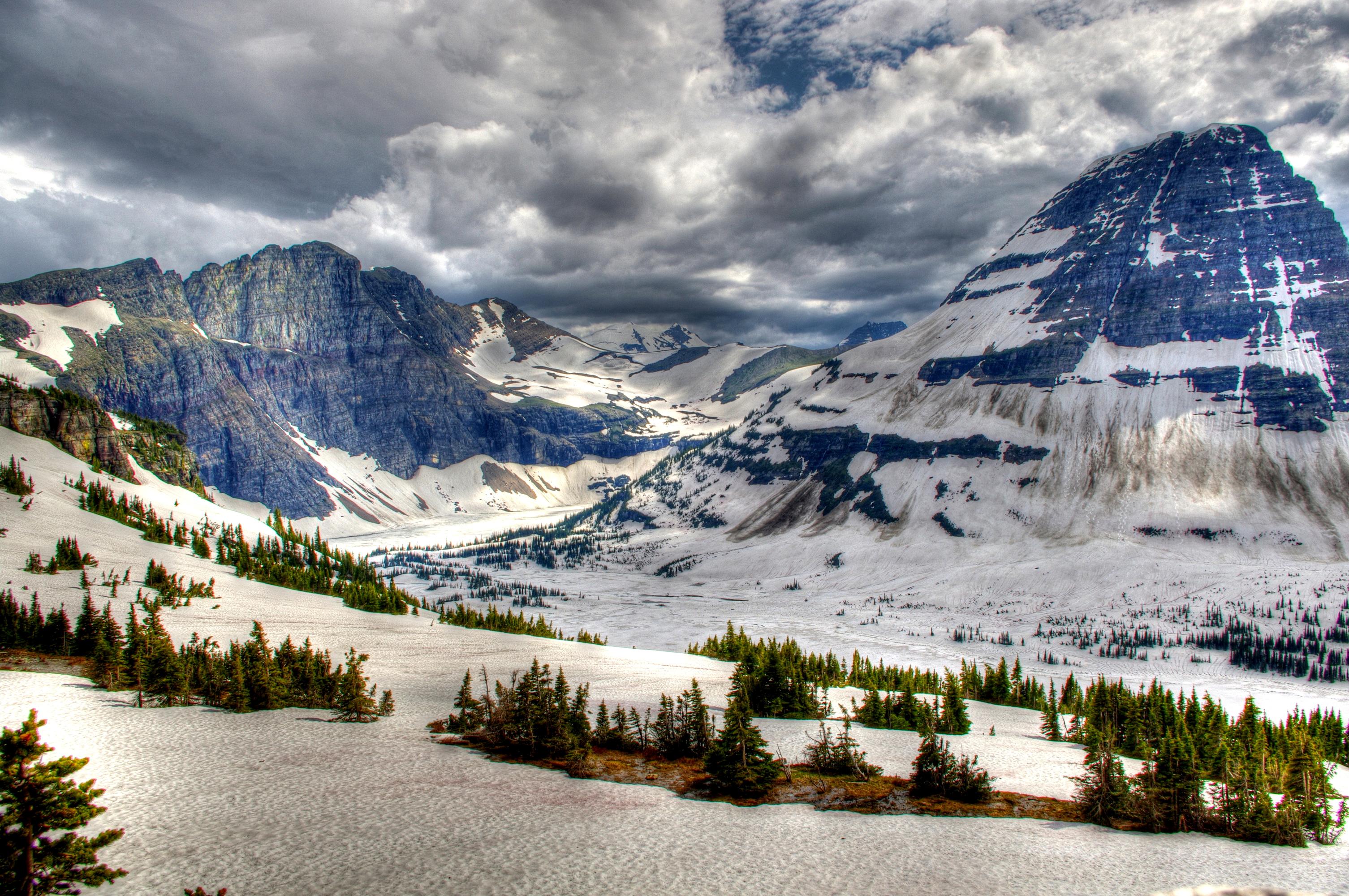 96969壁紙のダウンロード自然, カナダ, 公園, 雪, トップス, 頂点, Hdr, 山脈-スクリーンセーバーと写真を無料で