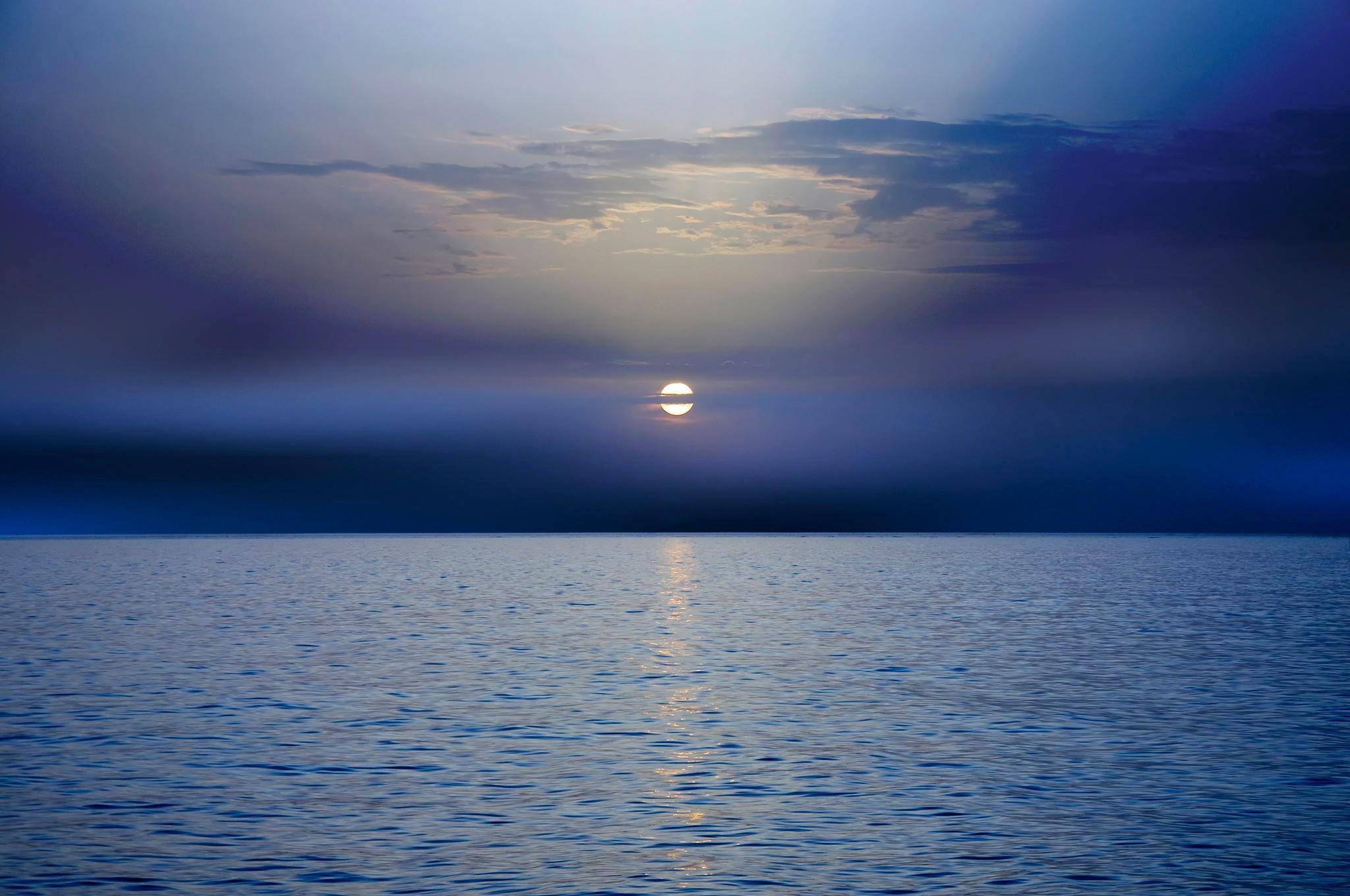 78001 скачать обои Природа, Закат, Темный, Море, Горизонт - заставки и картинки бесплатно
