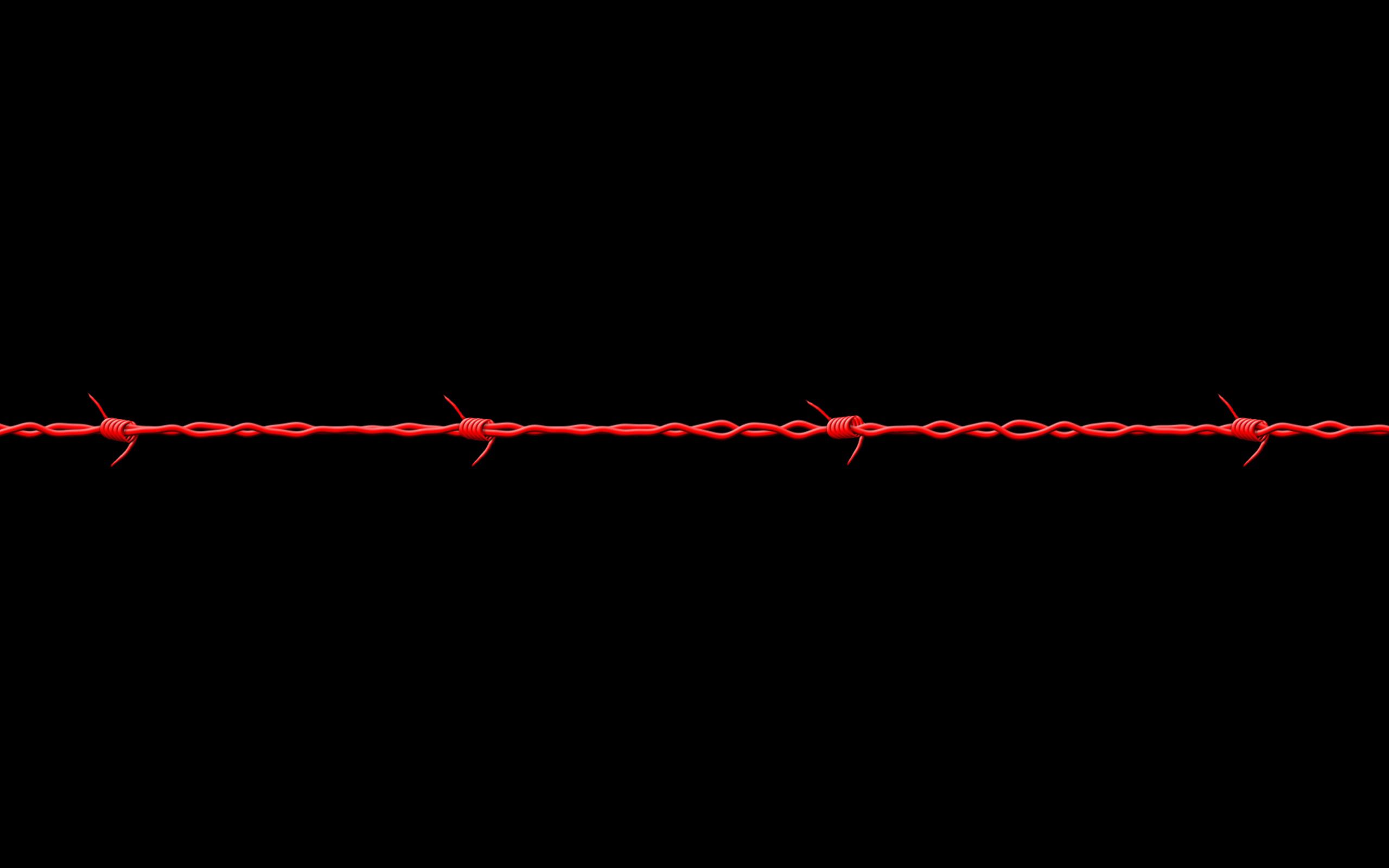 71067 download wallpaper Minimalism, Barbed Wire screensavers and pictures for free