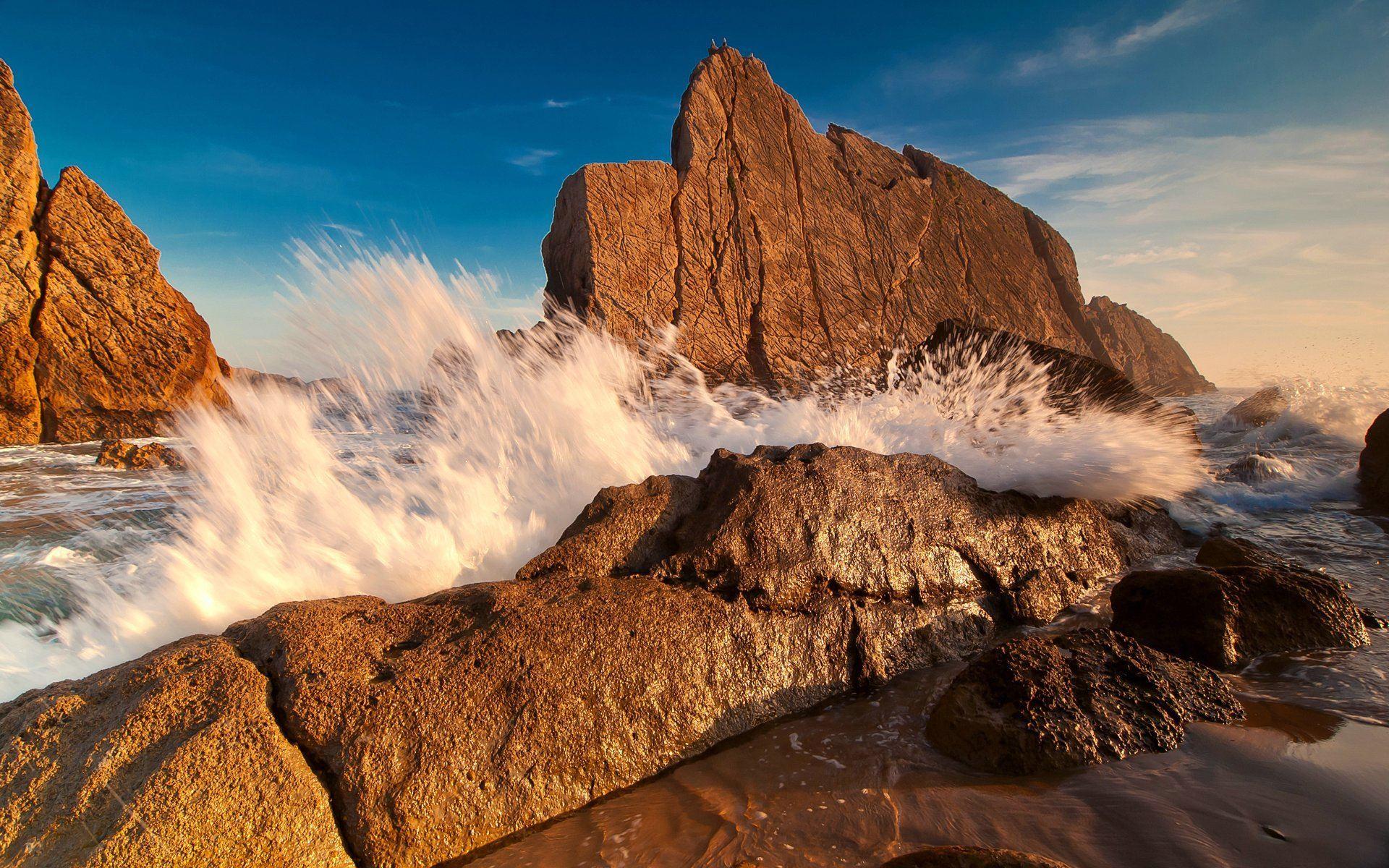 23469 скачать обои Пейзаж, Камни, Море, Волны - заставки и картинки бесплатно