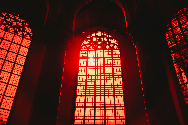 105597 скачать обои Архитектура, Интерьер, Свет, Разное, Красный, Окно, Арка - заставки и картинки бесплатно