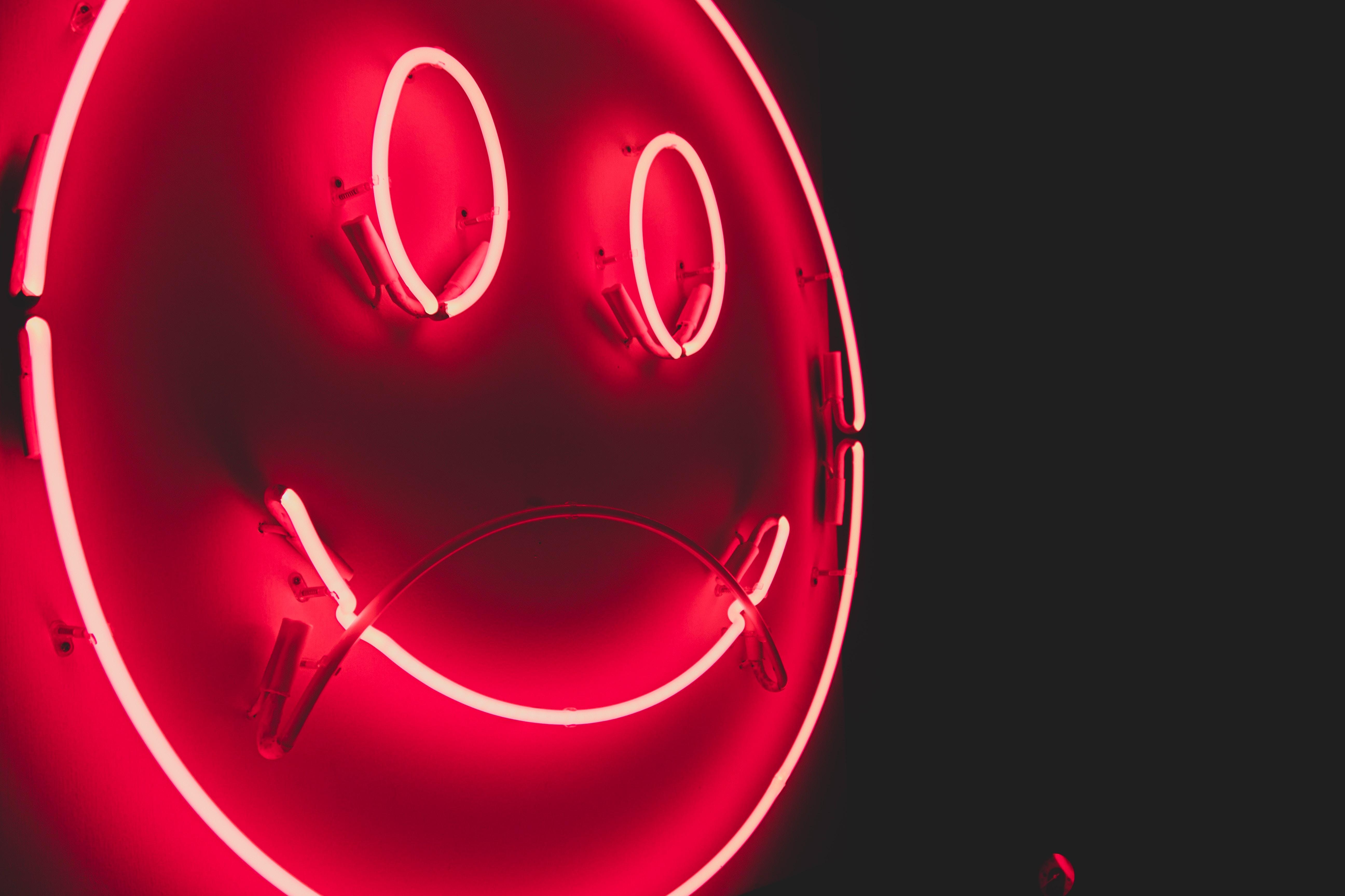 51118 завантажити шпалери Різне, Неон, Смайл, Посміхатися, Світіння, Смайлик, Емограма - заставки і картинки безкоштовно