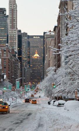 20609 скачать обои Пейзаж, Города, Зима, Дороги, Снег - заставки и картинки бесплатно