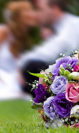 23892 télécharger le fond d'écran Fêtes, Fleurs, Roses, Bouquets, Mariage - économiseurs d'écran et images gratuitement
