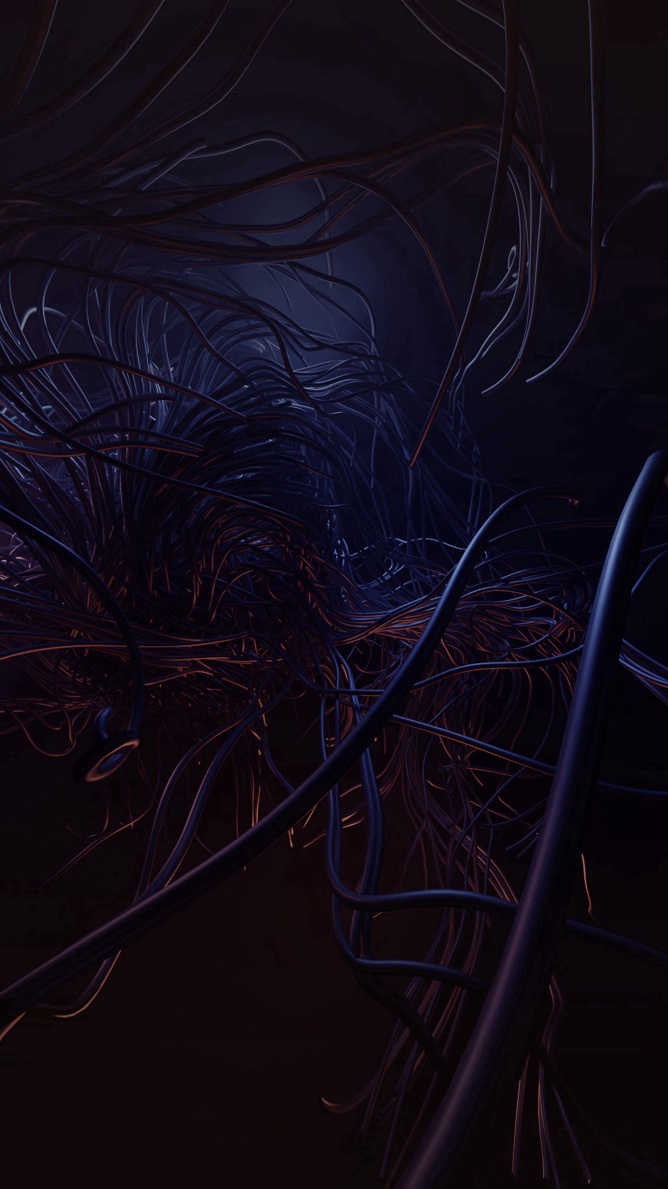 60144 Hintergrundbild herunterladen Dunkel, Kabel, Verwirrt, Komplizierte, Drähte, Draht - Bildschirmschoner und Bilder kostenlos