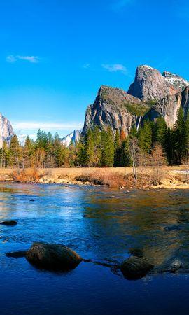 127219 скачать обои Природа, Река, Горы, Пейзаж - заставки и картинки бесплатно