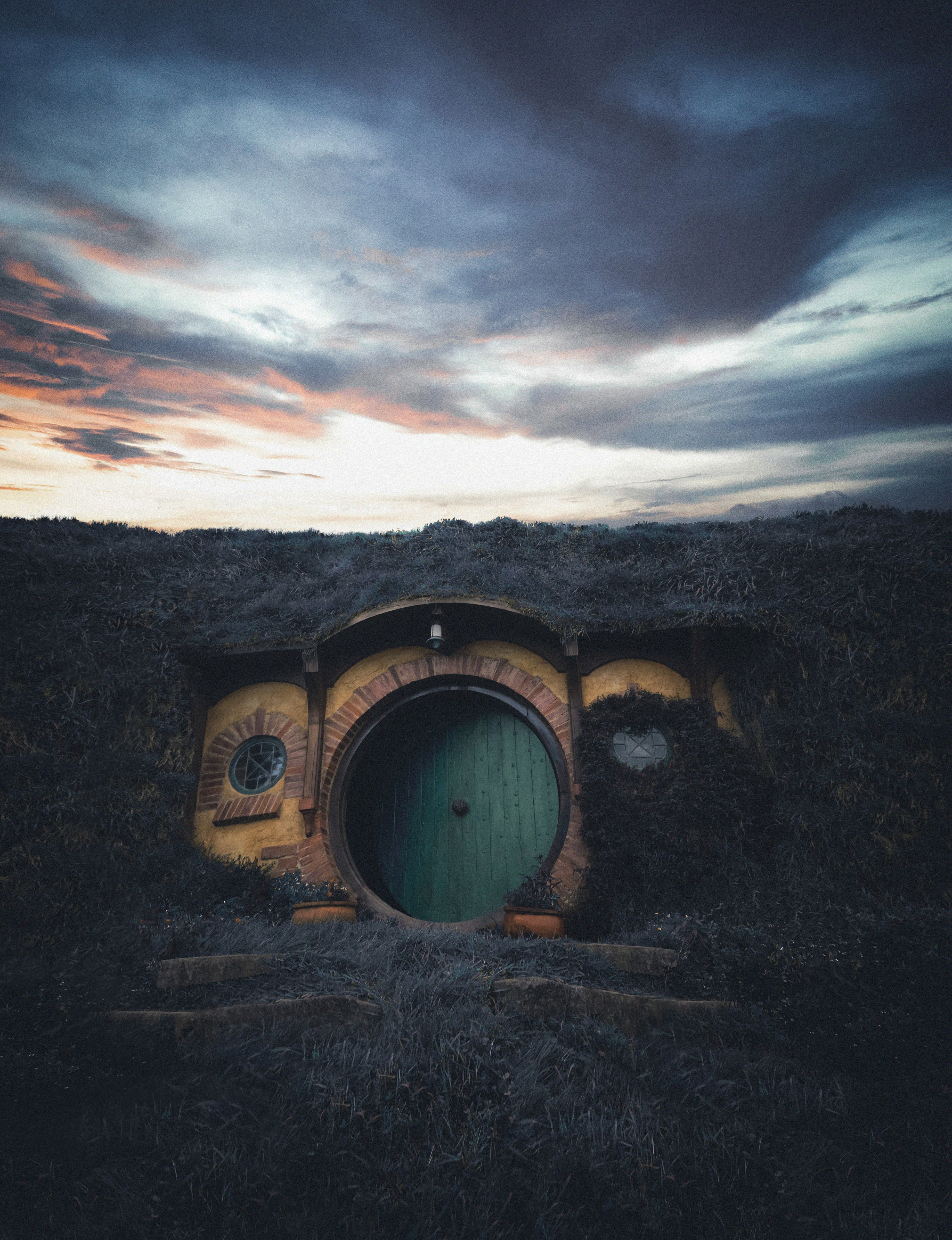 88151 Screensavers and Wallpapers New Zealand for phone. Download Nature, New Zealand, Structure, Door, Hobbiton pictures for free