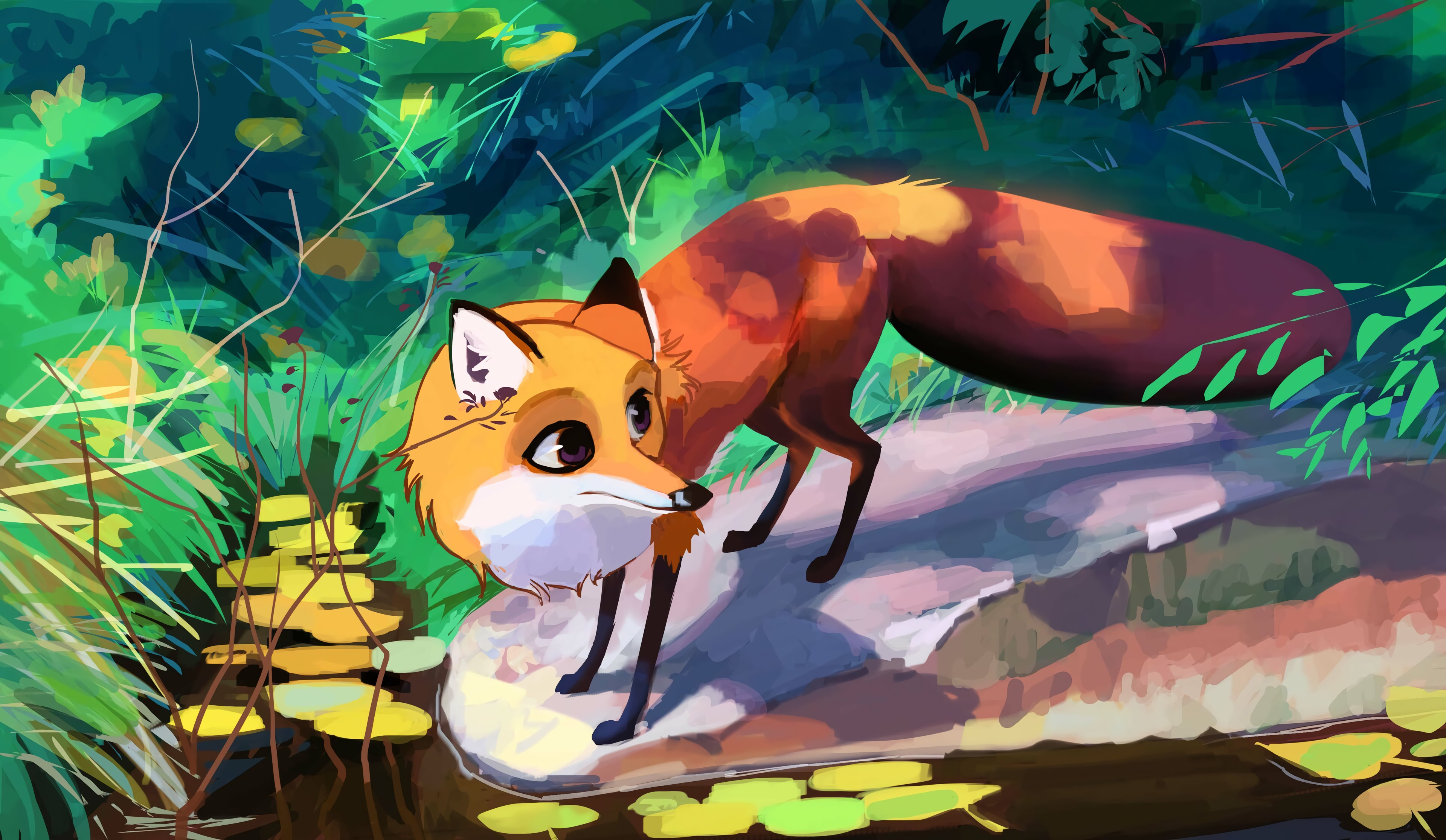 131448 Screensavers and Wallpapers Nice for phone. Download Art, Fox, Animal, Nice, Sweetheart pictures for free