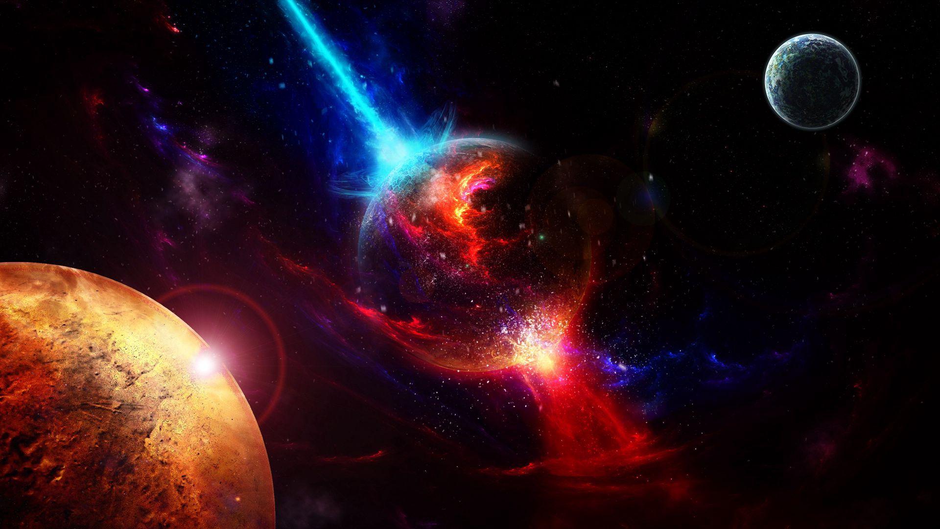 77275 скачать обои Космос, Планеты, Взрыв, Взлет - заставки и картинки бесплатно