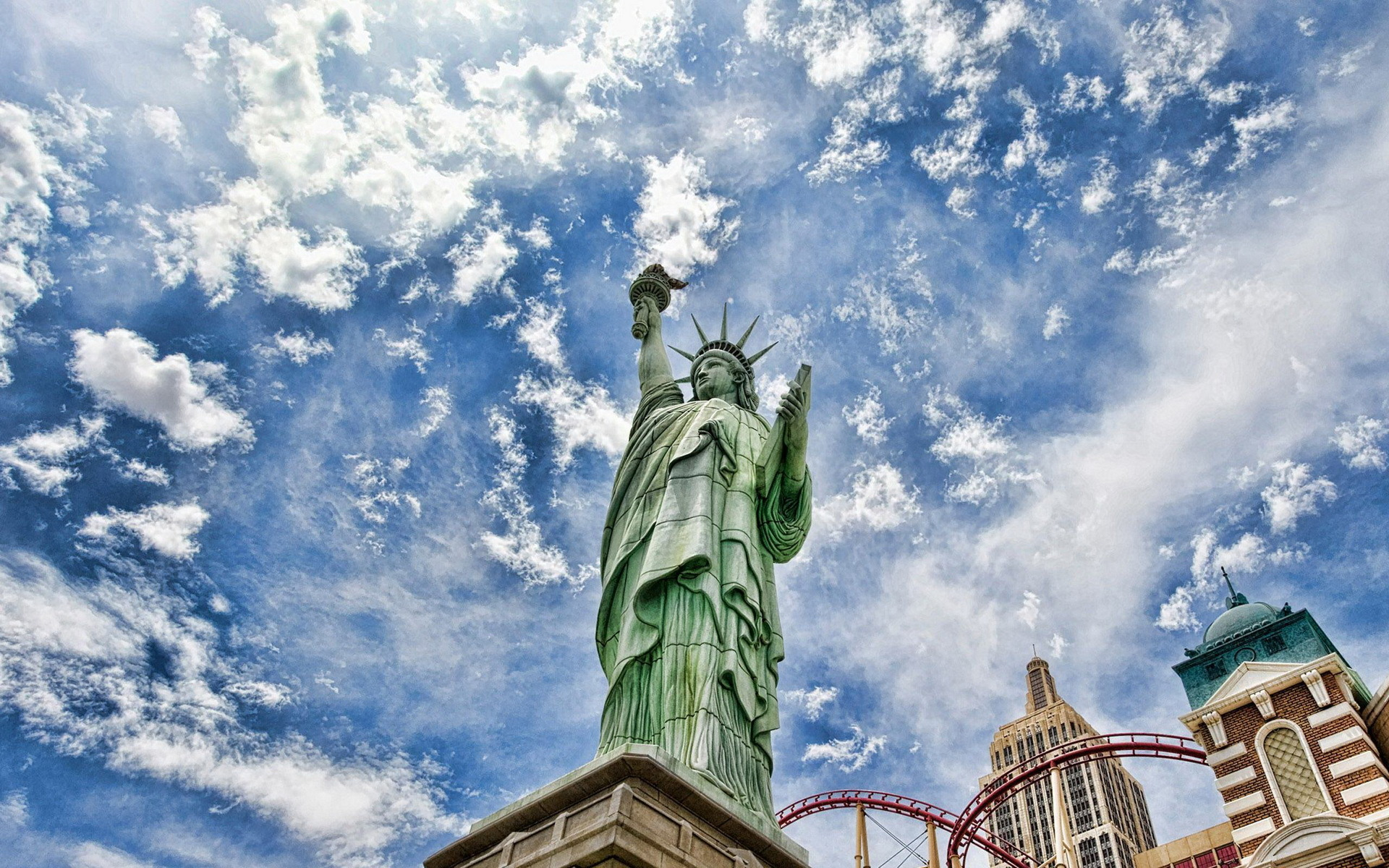 50221 download wallpaper Landscape, Sky, Objects, Statue Of Liberty screensavers and pictures for free