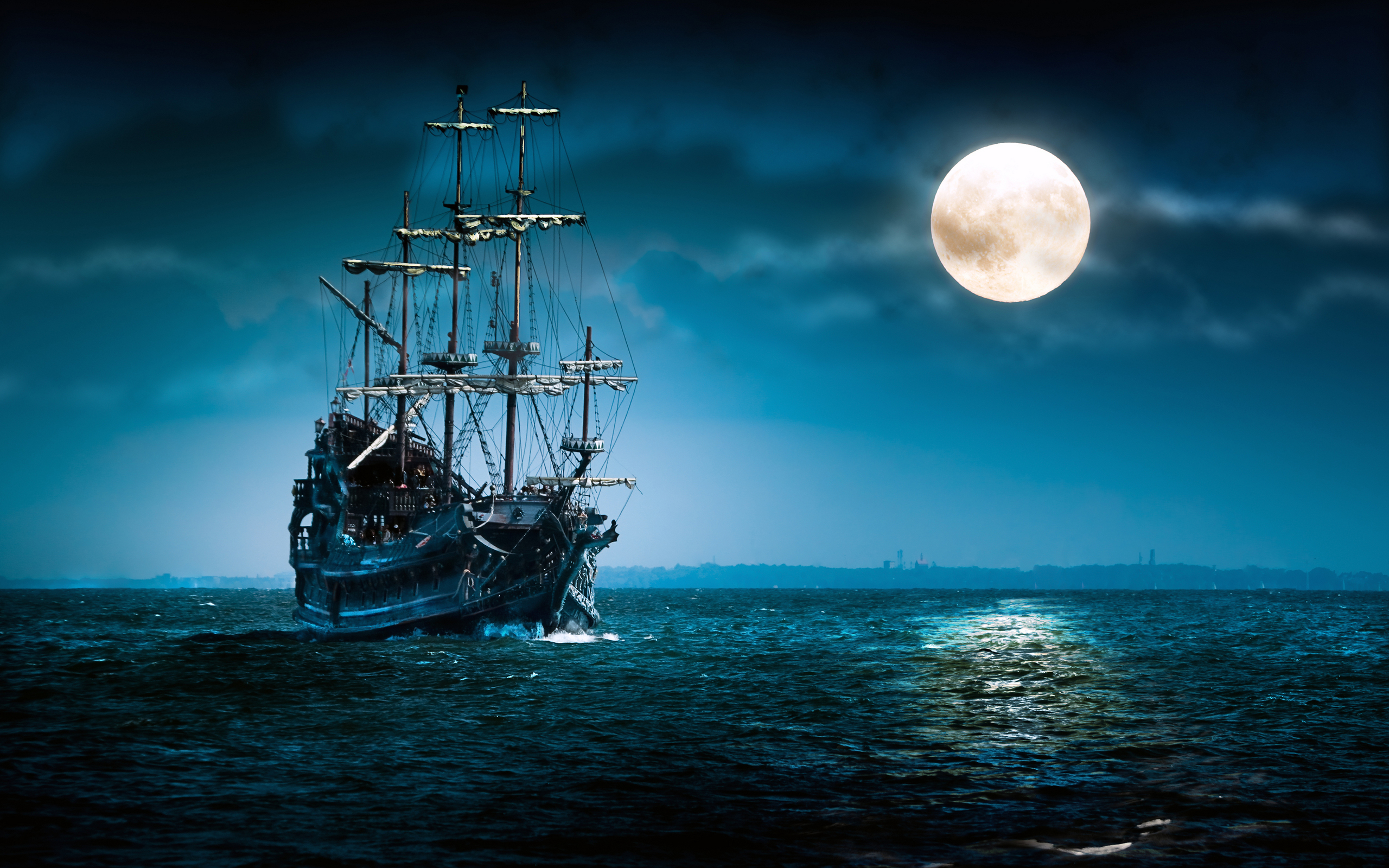 38870 download wallpaper Fantasy, Ships screensavers and pictures for free