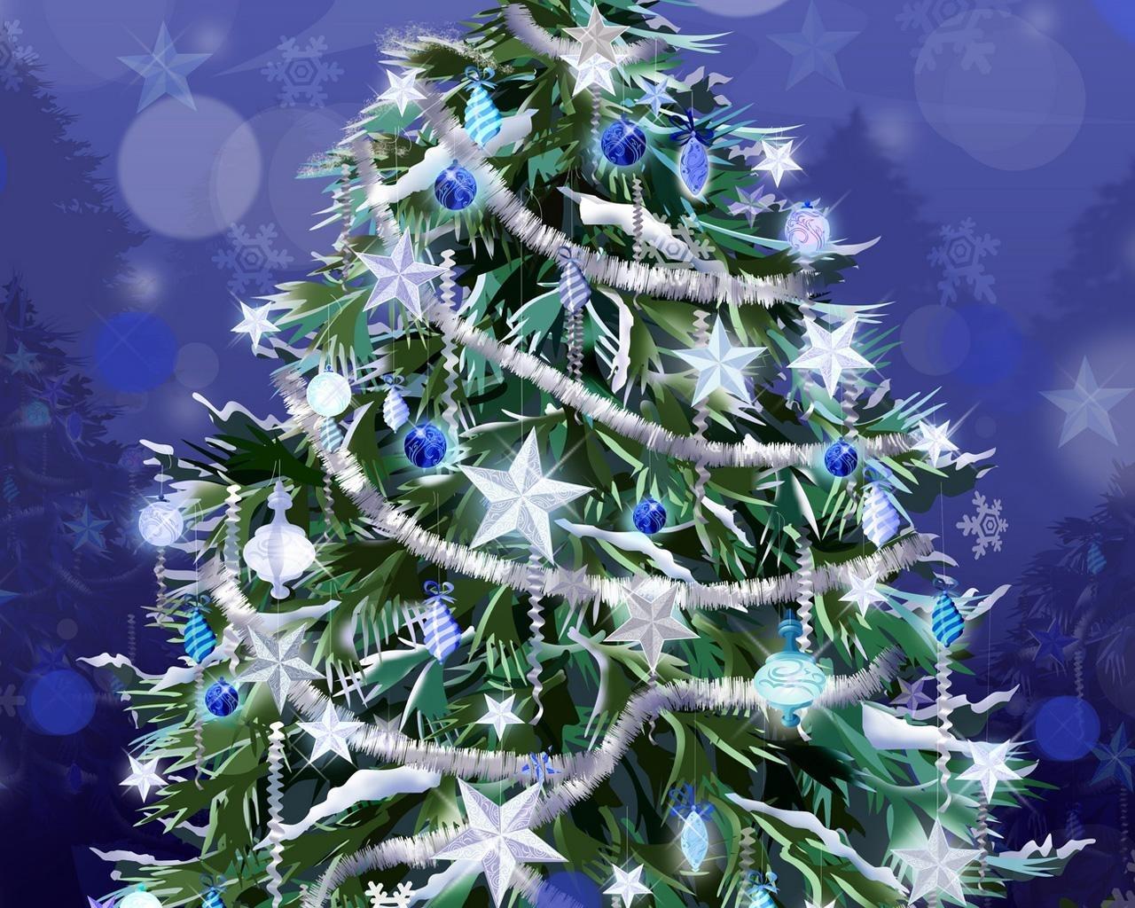2209 скачать обои Праздники, Новый Год (New Year), Елки, Рождество (Christmas, Xmas), Рисунки - заставки и картинки бесплатно