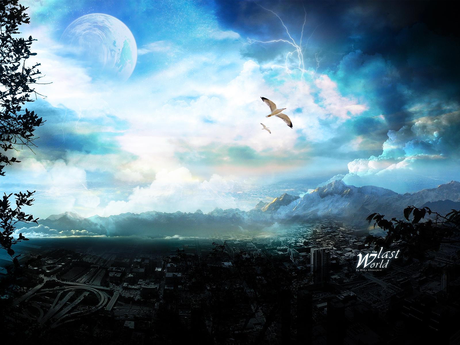 16792 скачать обои Пейзаж, Небо, Рисунки - заставки и картинки бесплатно