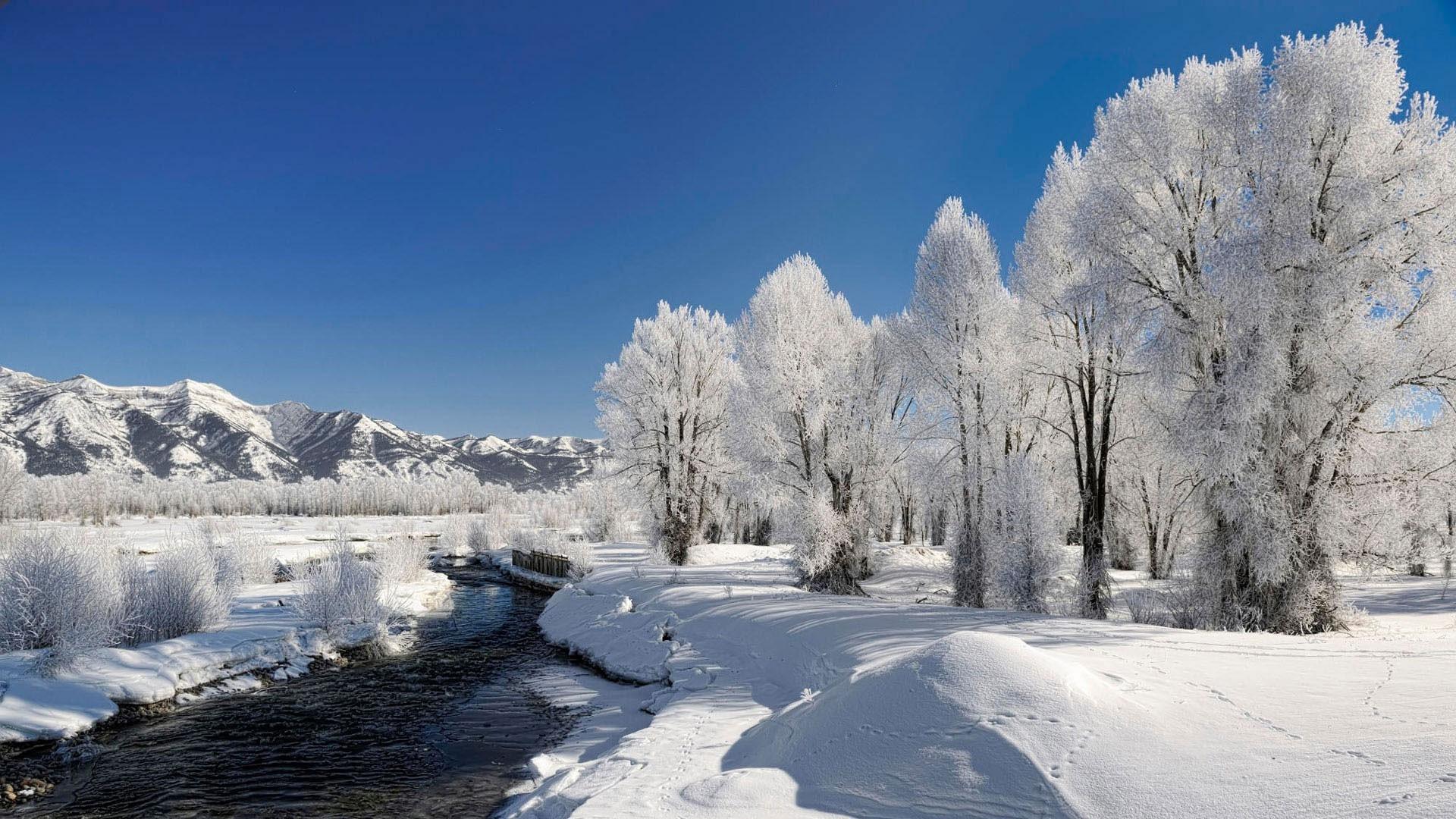38455 скачать обои Пейзаж, Зима, Река - заставки и картинки бесплатно