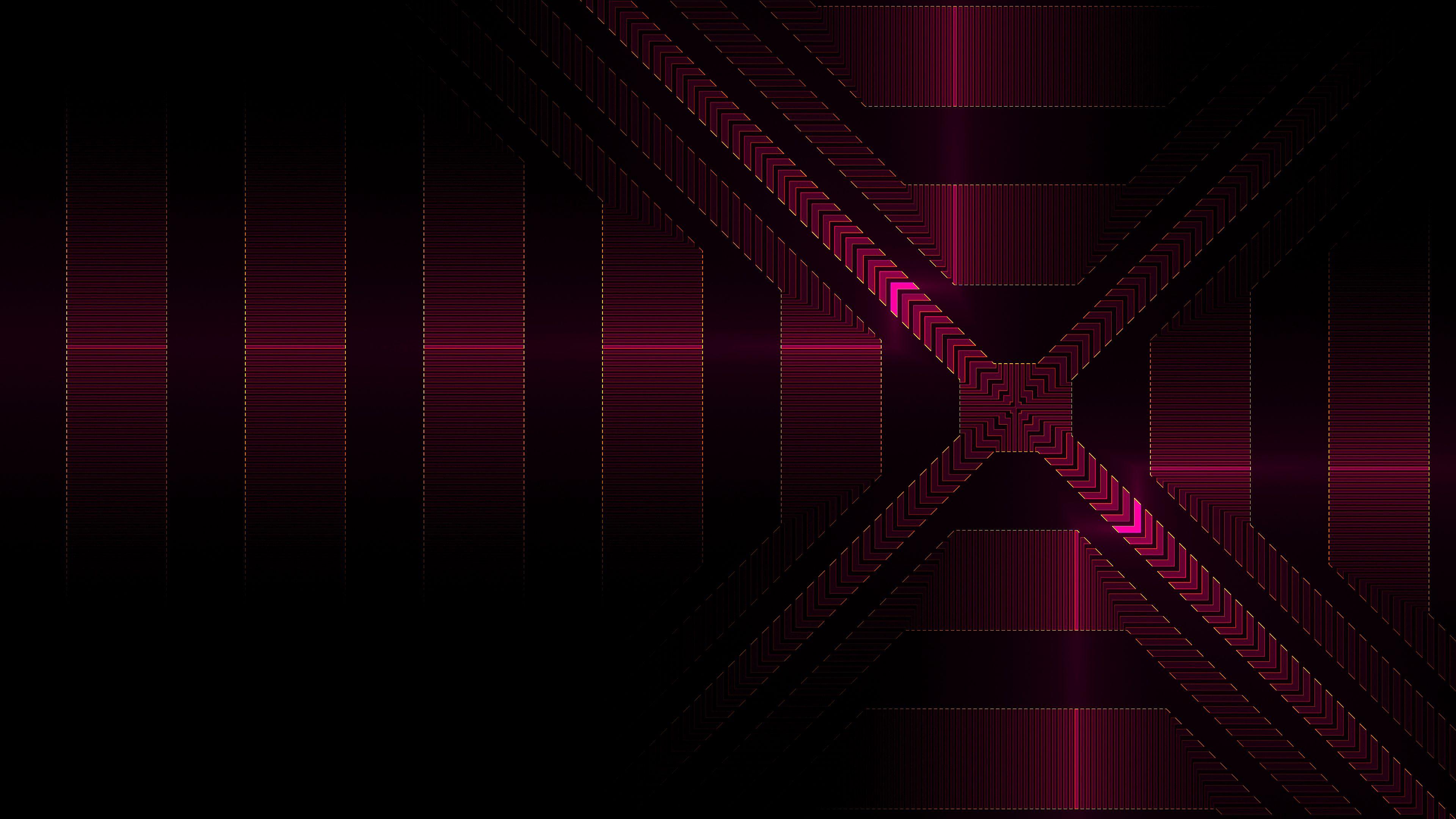 122188 скачать обои Абстракция, Линии, Блеск, Фрактал, Розовый, Геометрический, Стрелки - заставки и картинки бесплатно