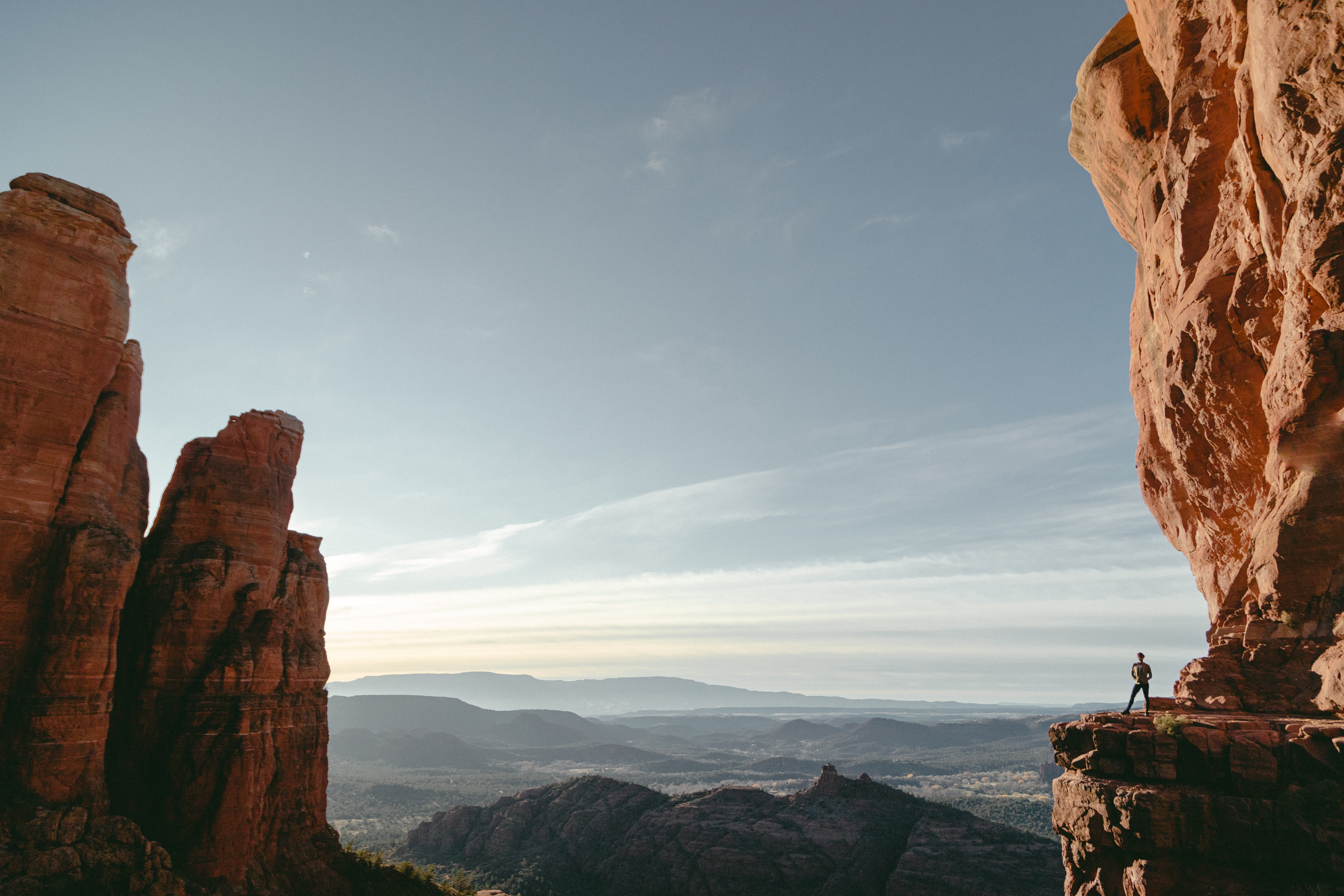 123291 download wallpaper Nature, Canyon, Cliff, Silhouette, Rocks, Mountains screensavers and pictures for free