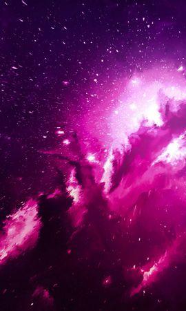 110573 baixar papel de parede Abstrato, Nebulosa, Brilho, Clarão, Brilhar, Luz, Nuvem, Roxo, Violeta - protetores de tela e imagens gratuitamente