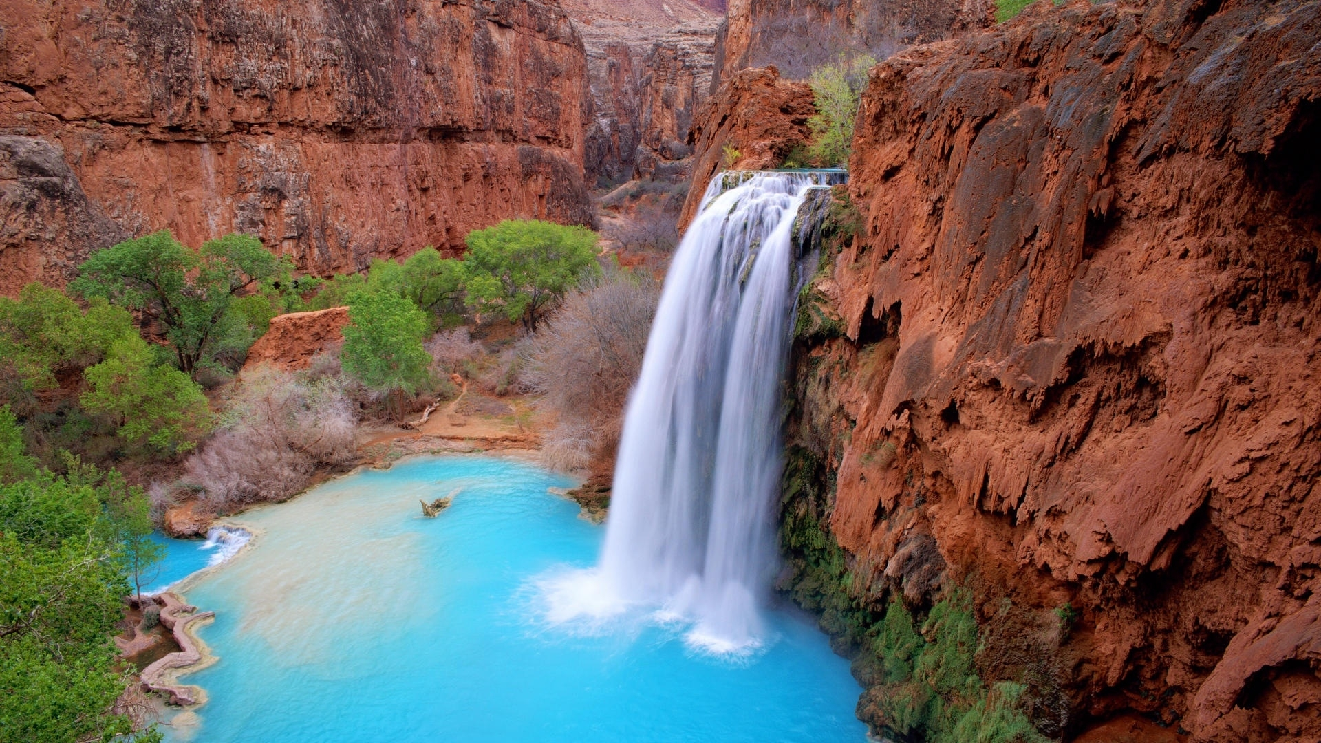 27961 скачать обои Пейзаж, Река, Горы, Водопады - заставки и картинки бесплатно