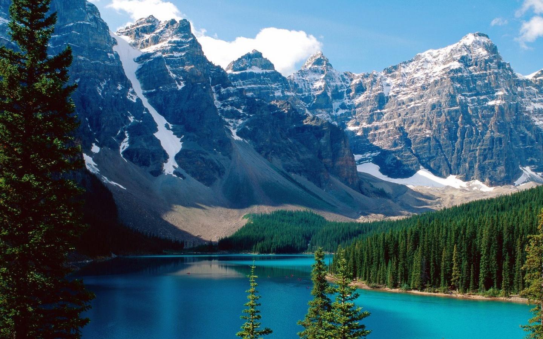 22356 télécharger le fond d'écran Paysage, Rivières, Arbres, Montagnes - économiseurs d'écran et images gratuitement
