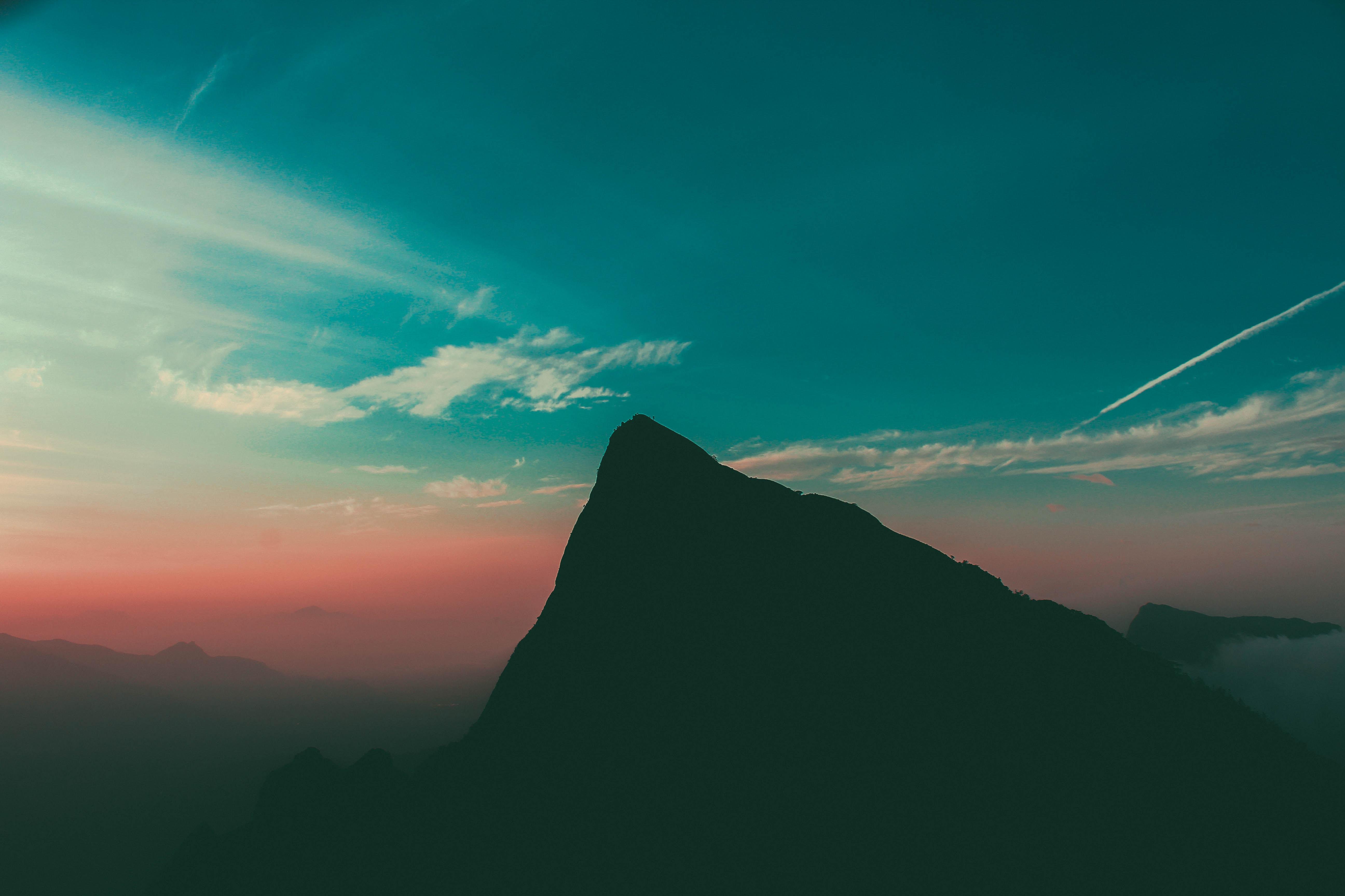 113913壁紙のダウンロード闇, 暗い, 山, スカイ, イブニング, 夕方-スクリーンセーバーと写真を無料で